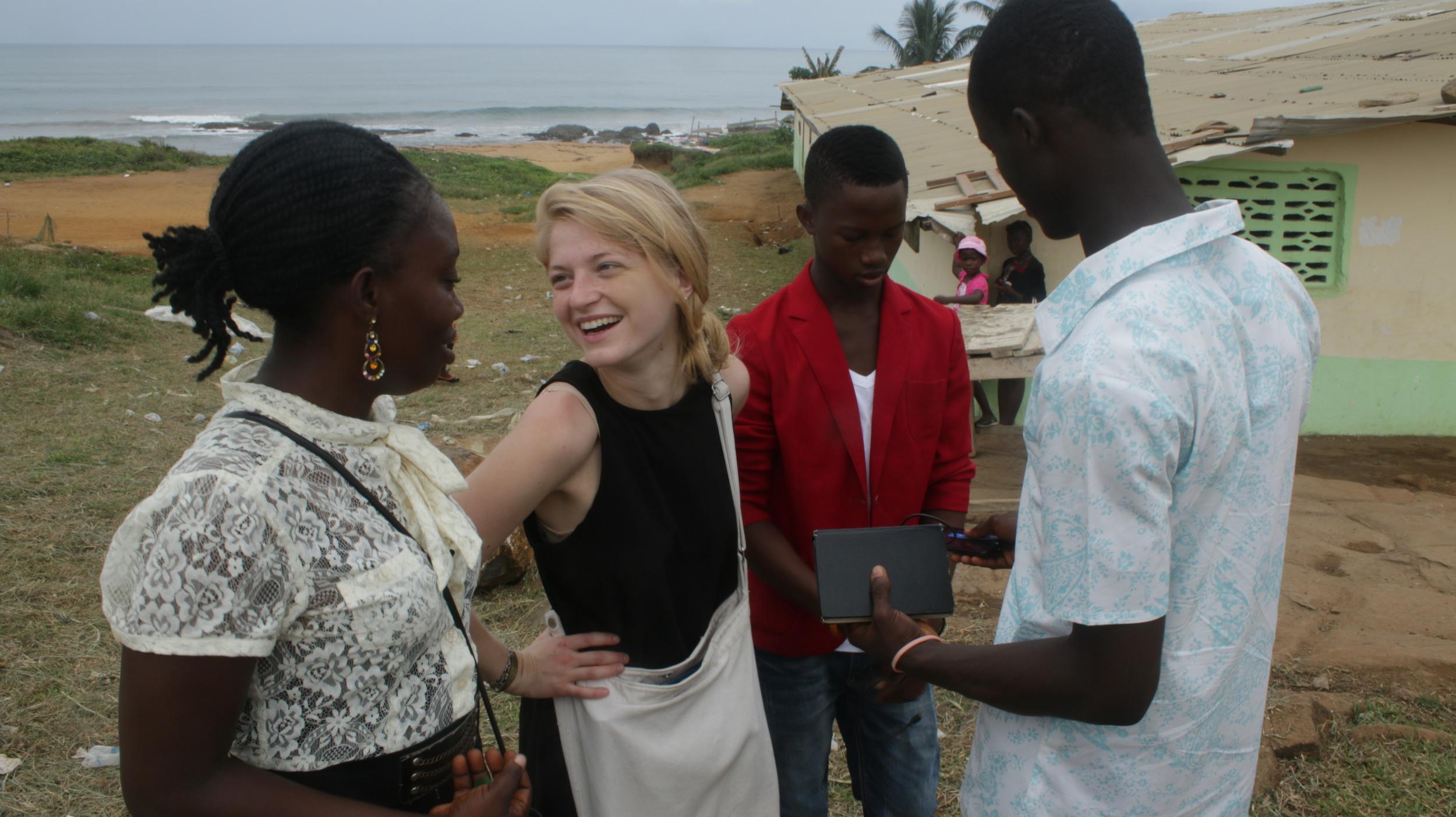 Liberian Coordinators and Program Director, Maya French