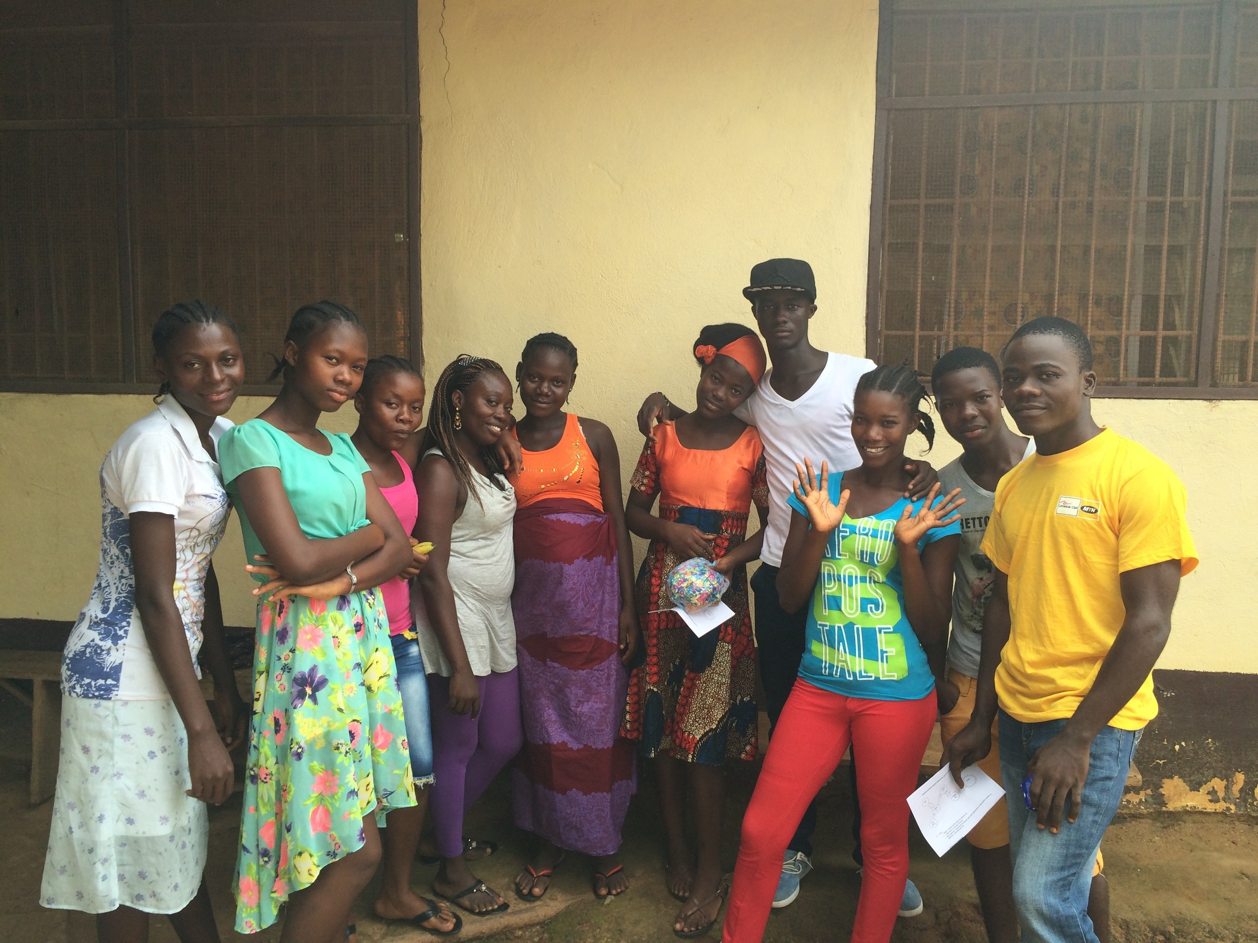 Scholarship recipients from Ganta City in Nimba County.