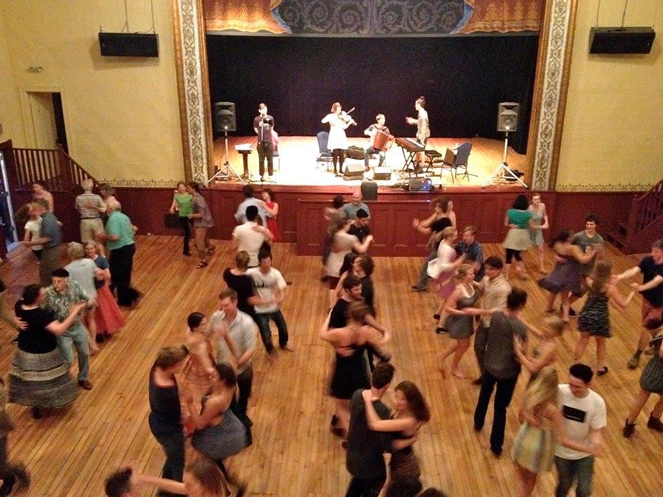 Dancers at Camden High Schools 2015 Contradance Fundraiser.