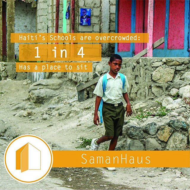 In Haiti classrooms are 75% overcrowded. Help #SamanHaus build better spaces for #HaitianChildren to grow and learn.