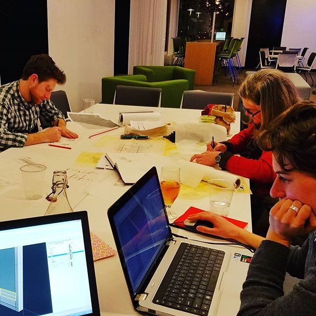 #latenight #SamanHaus crew working on #designs for the #Haitian #Orphanage  project