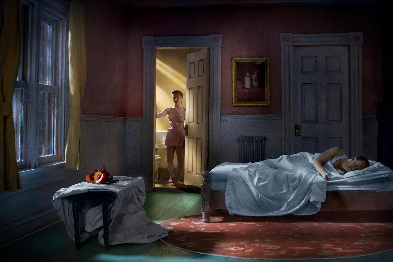 Pink Bedroom (Still Life At Night), (2013)