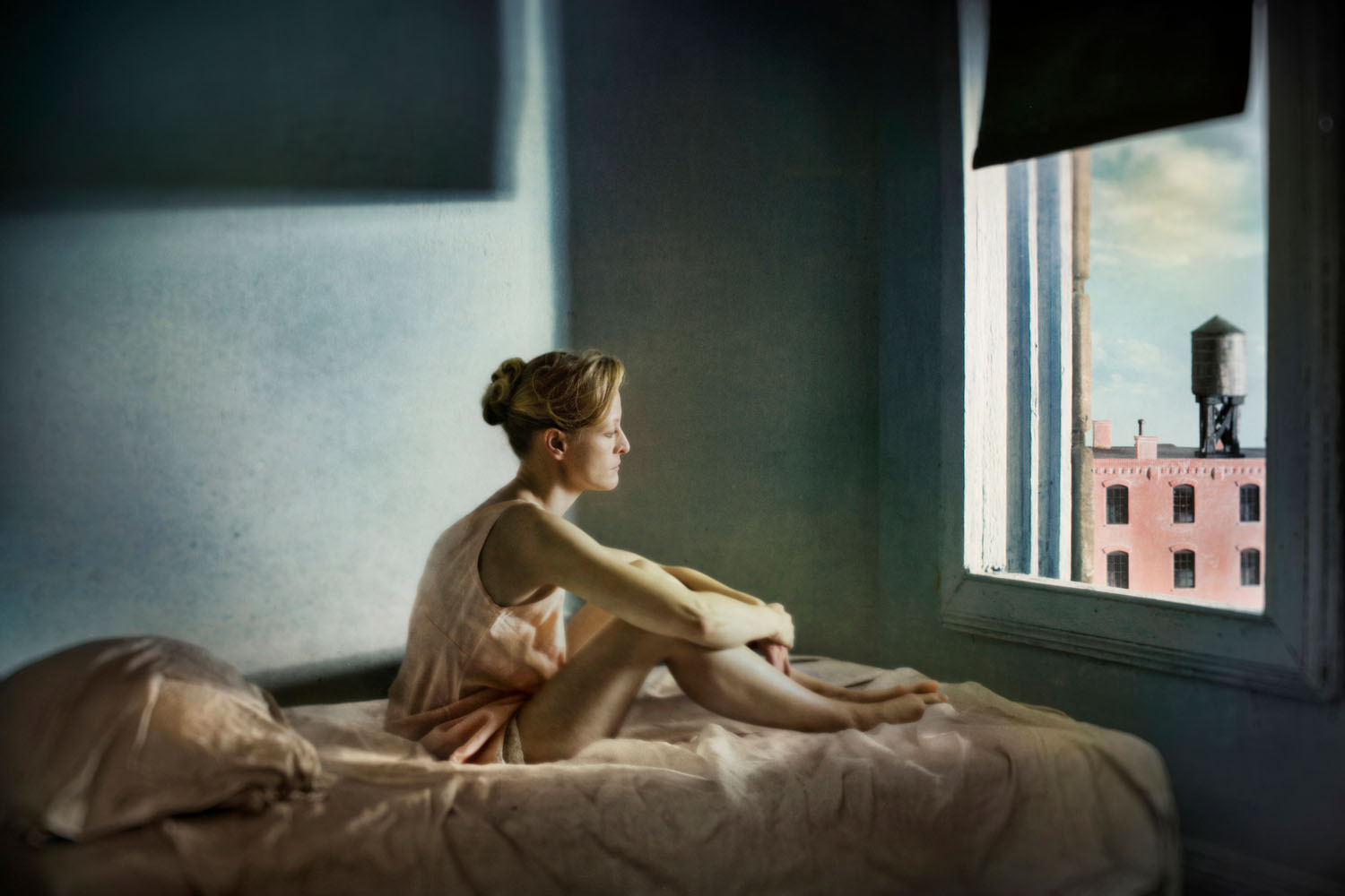 A photograph from the Hopper Meditations series by Richard Tuschman.