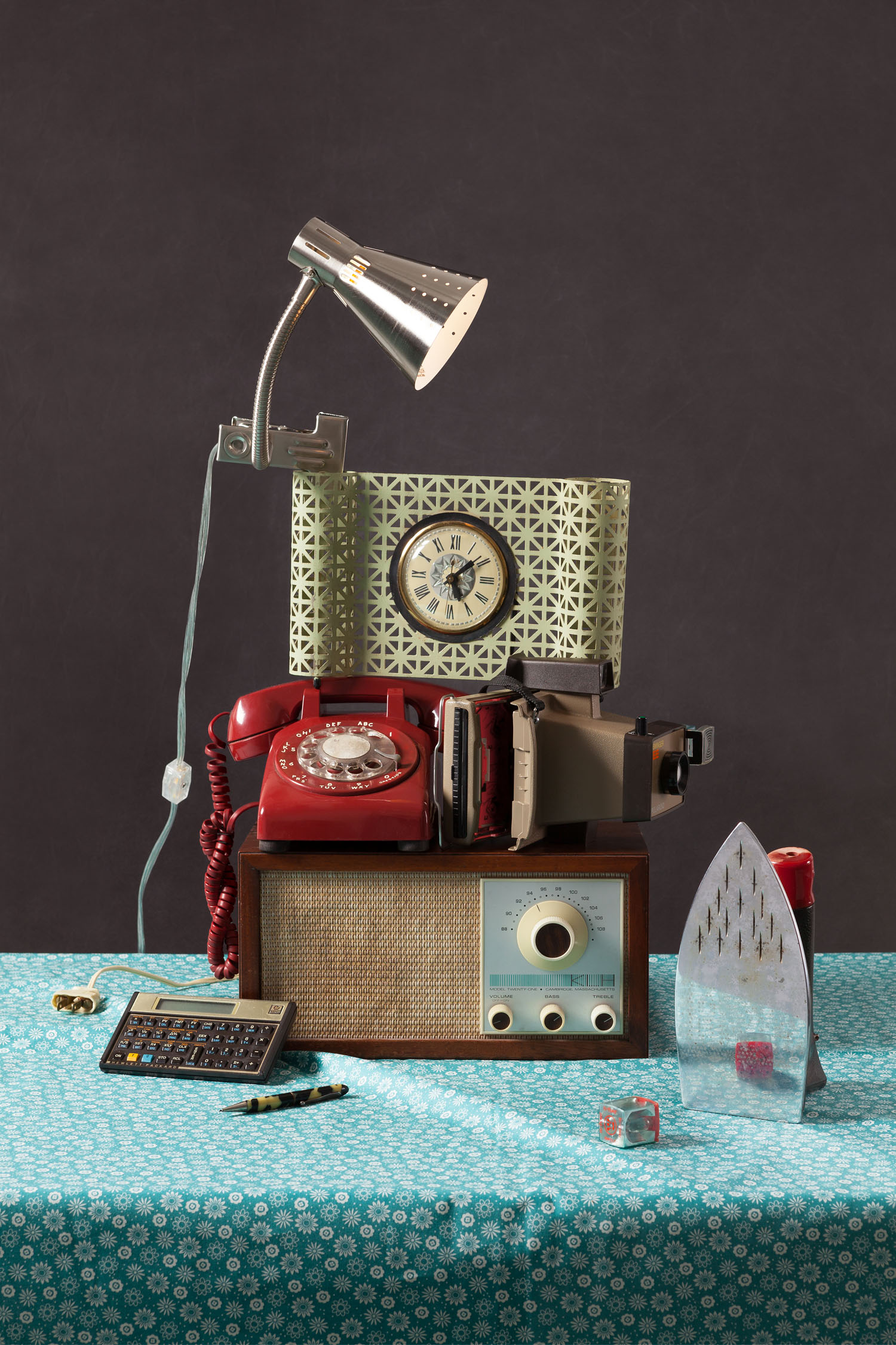 A still life photograph from the Tech Vanitas series by Jeanette May.