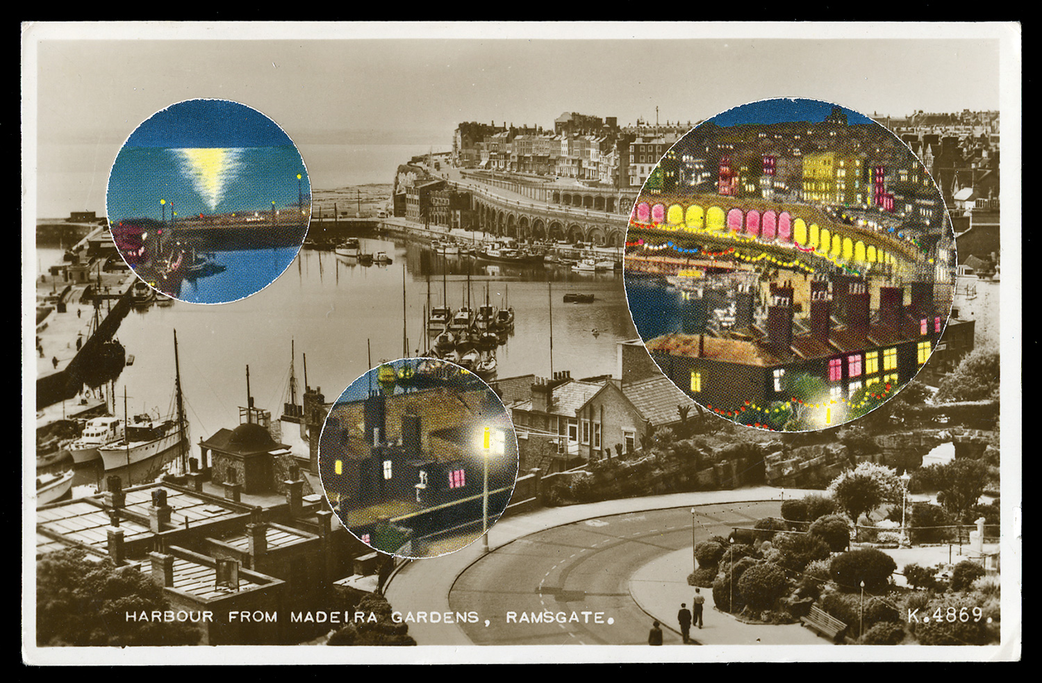 Harbour from Madeira Gardens, Ramsgate, 2017