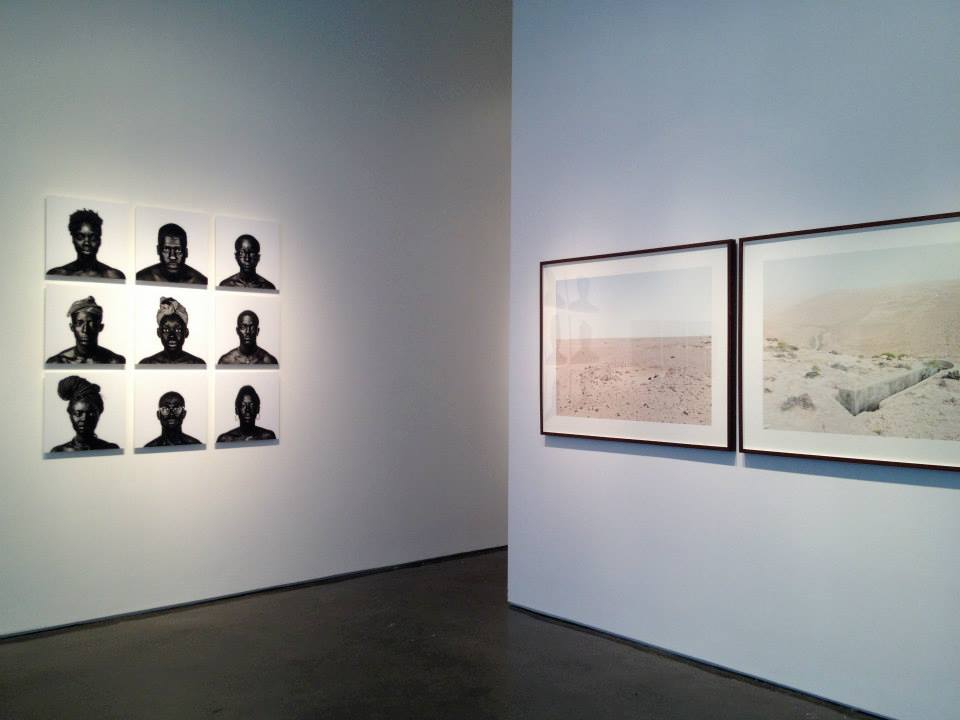 Photograph of an exhibition installation at the Klompching Gallery, New York.
