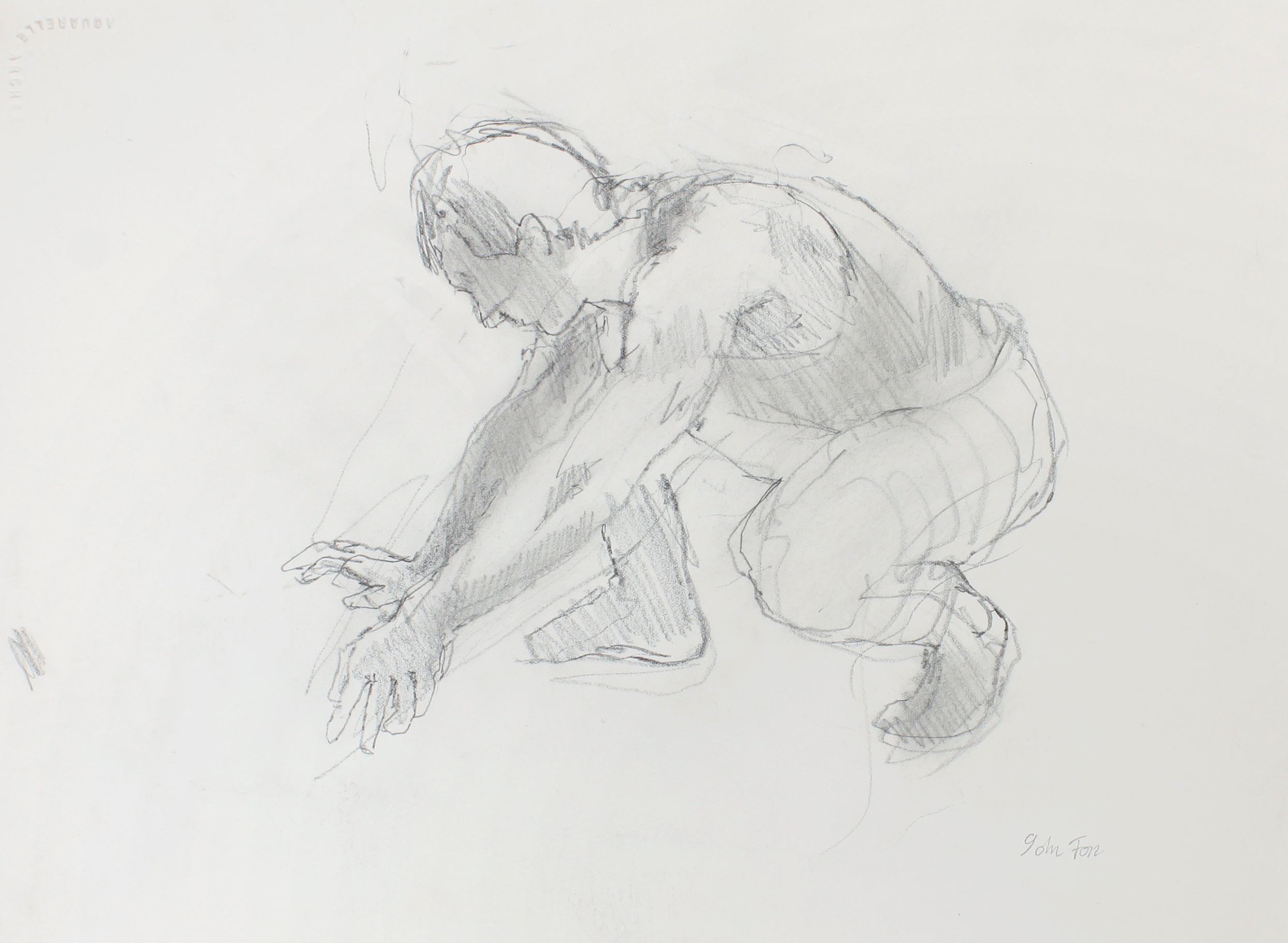 1980s_Digger_Crouching_Figure_pencil_on_paper_11x15in_WPF597.jpg