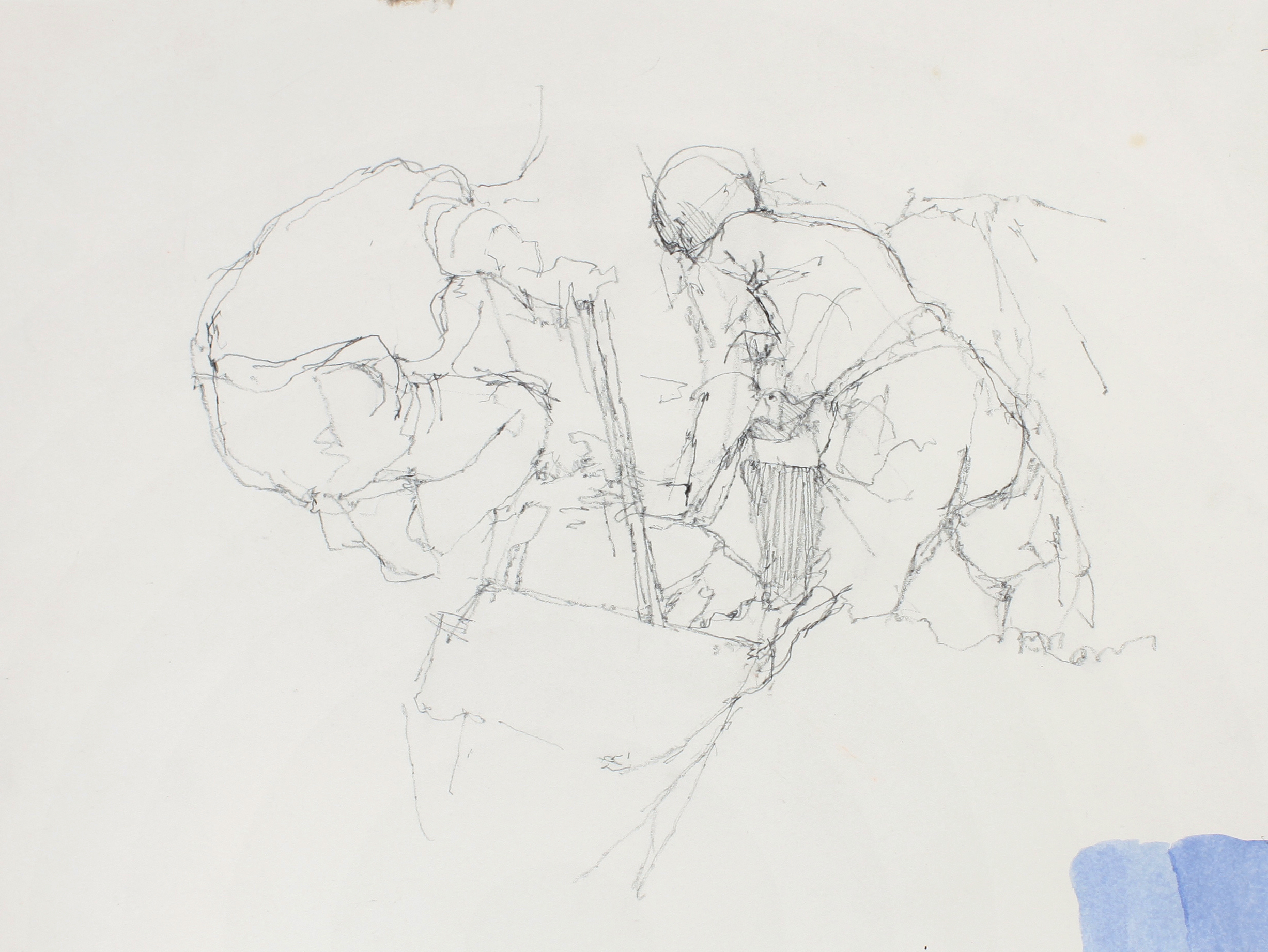 1980s_Drawing_of_Diggers_after-the_Painting_Etching_&_Painting_pencil_on_paper_11x15in_WPF606.jpg