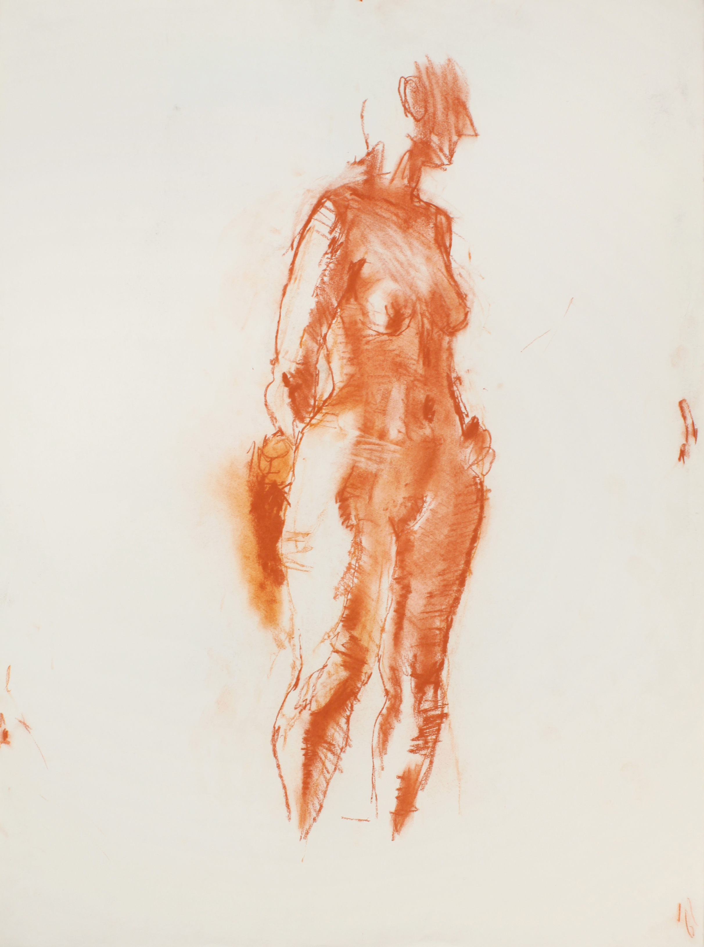 1980s_Standing_Elongated_Nude_red_conte_on_paper_30x22in_WPF479.jpg