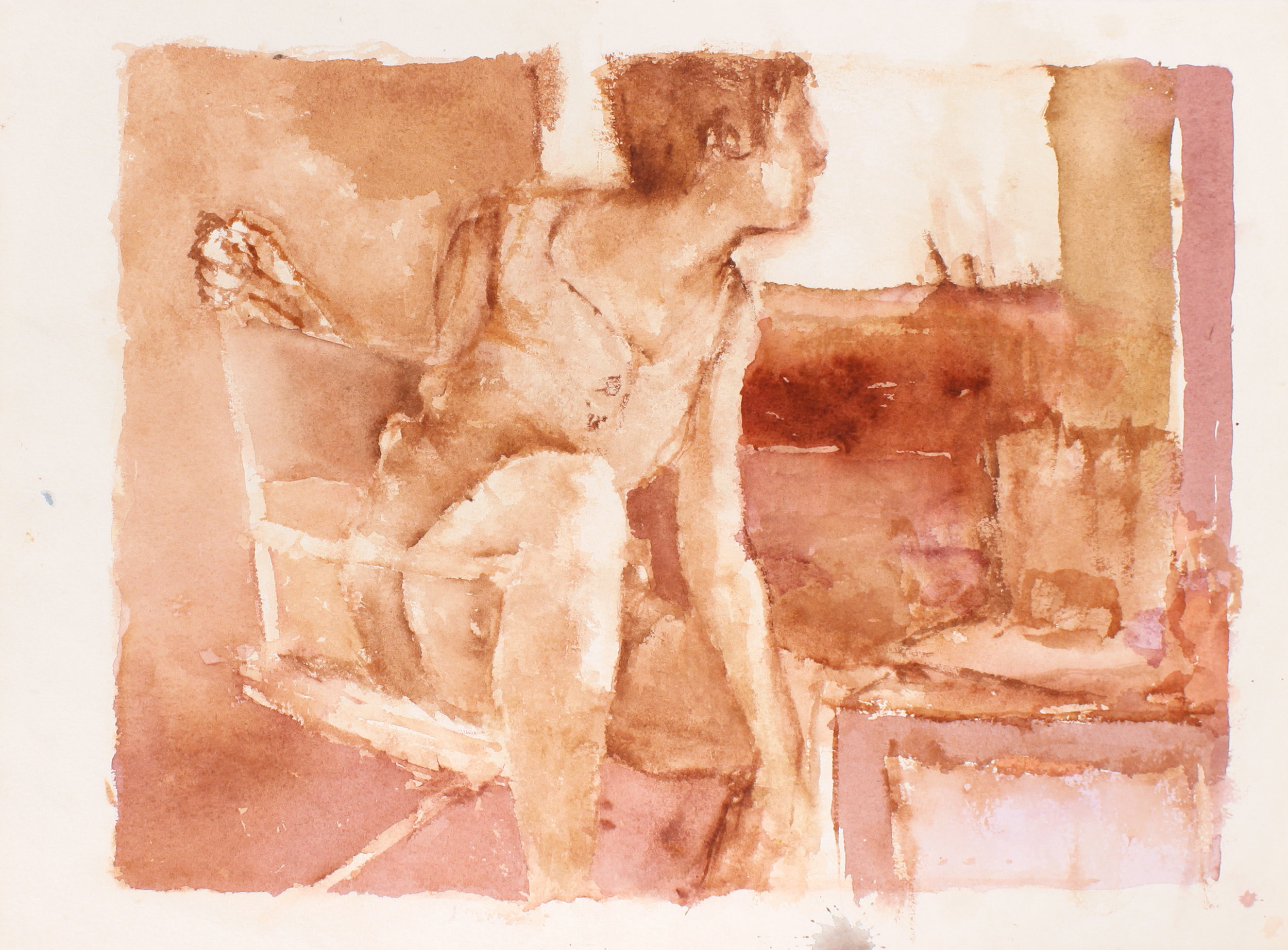 1989_Sophie_in_Directors_Chair_in_Studio_Turned_to_Right_watercolour_on_paper_11x15in_WPF601.jpg