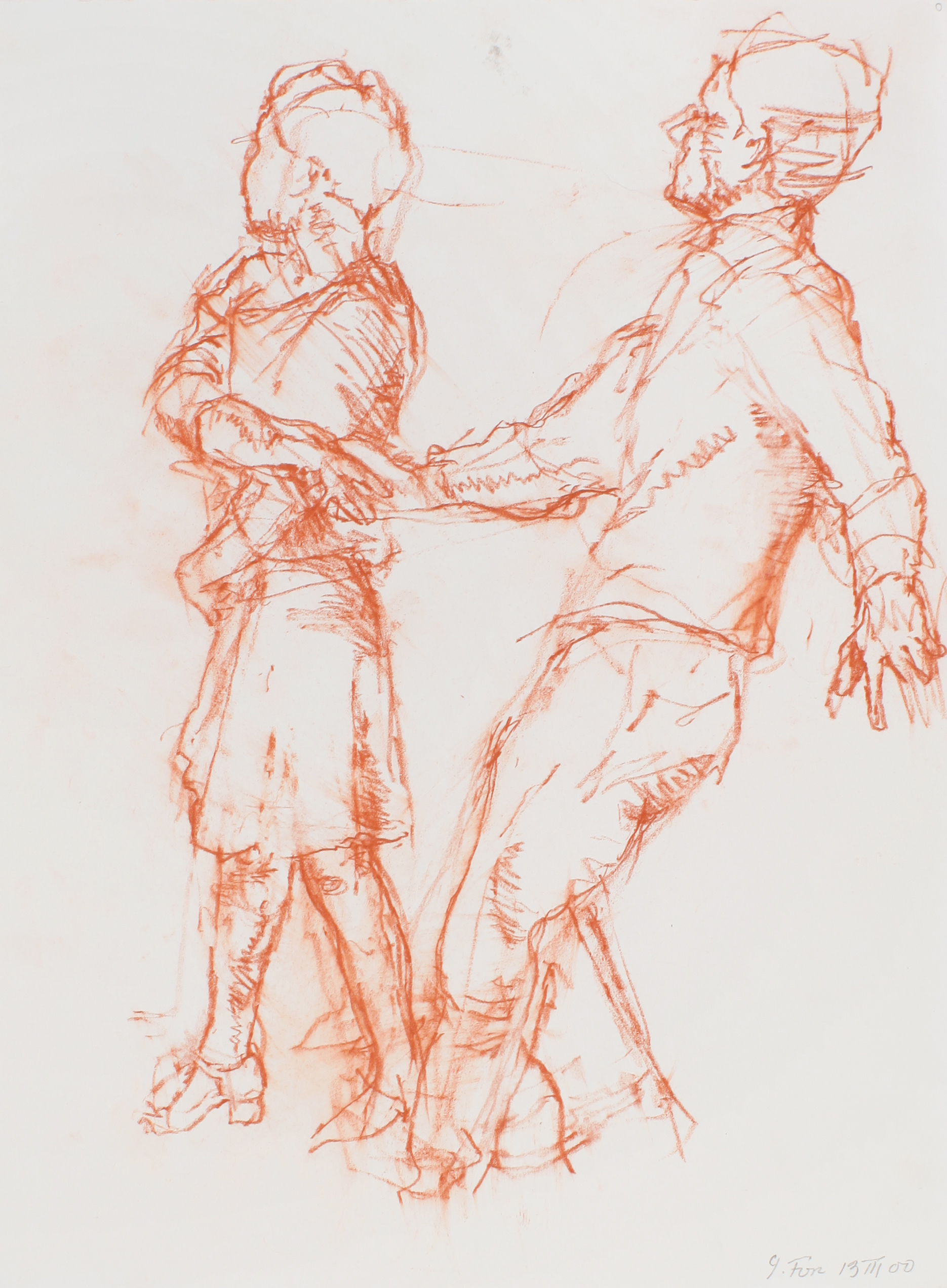 2000_Couple_Walking_Holding_Hands_red_conté_on_paper_15x11in_WPF550.jpg
