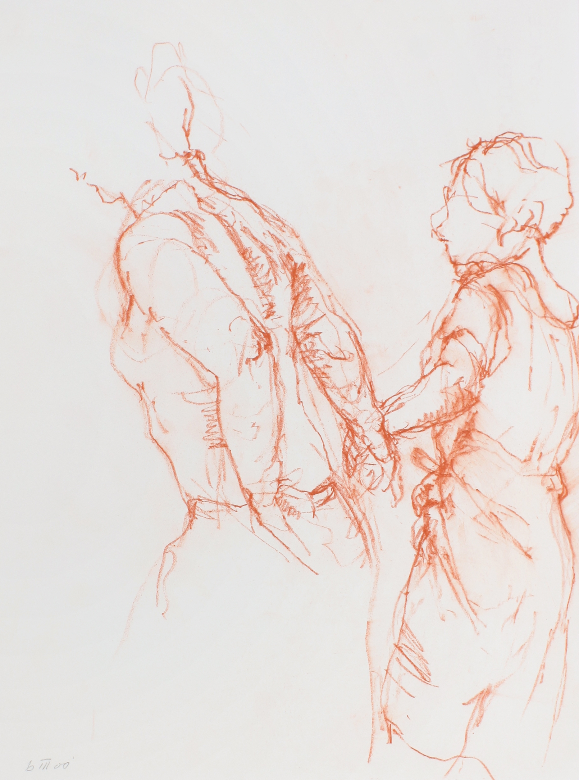 2000_Male_and_Female_Walking_Figures_red_conté_on_paper_15x11in_WPF579.jpg