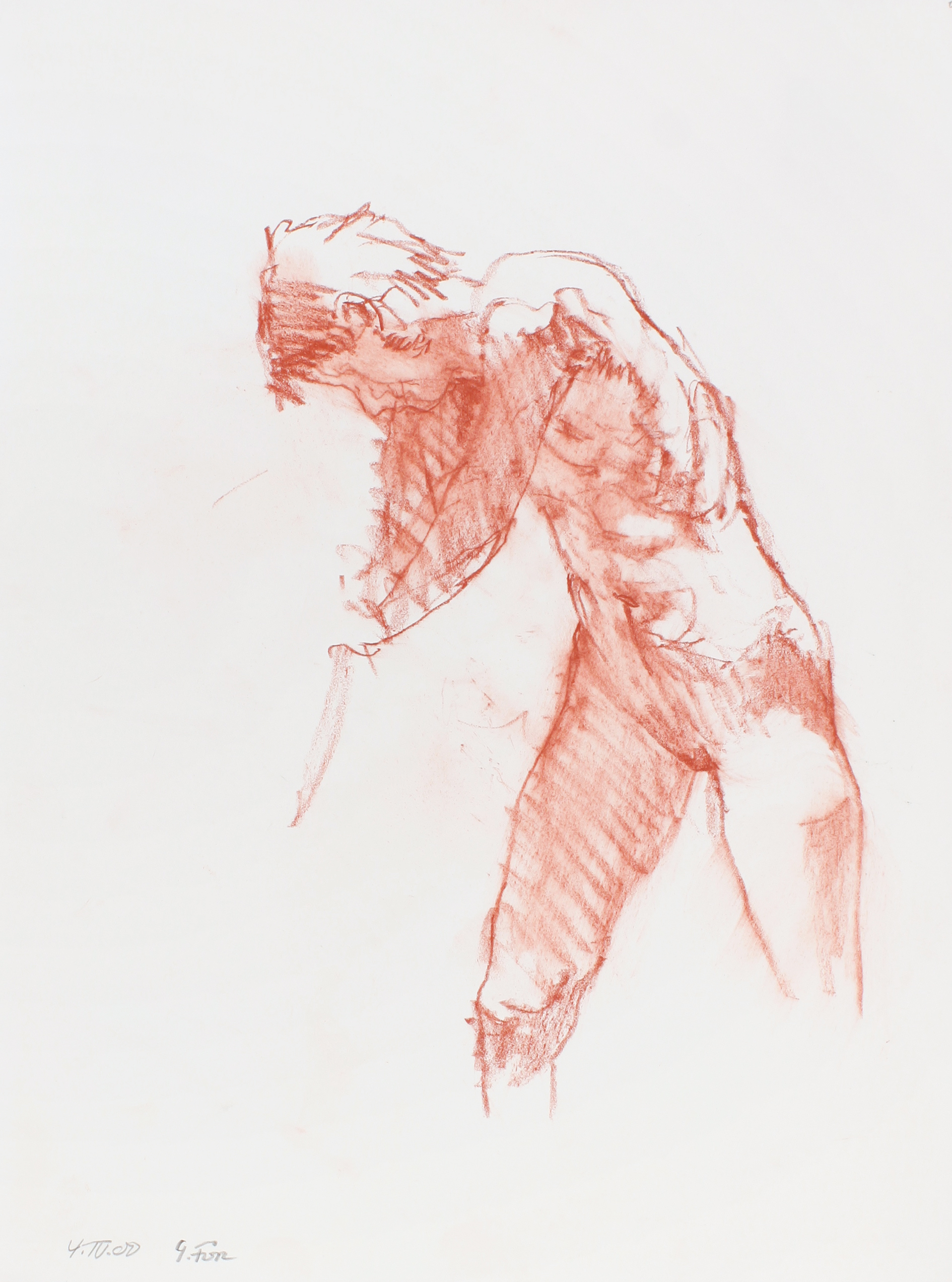 2000_Standing_Nude_in_Profile_with_Cropped_Legs_red_conté_on_paper_15x11in_WPF558.jpg