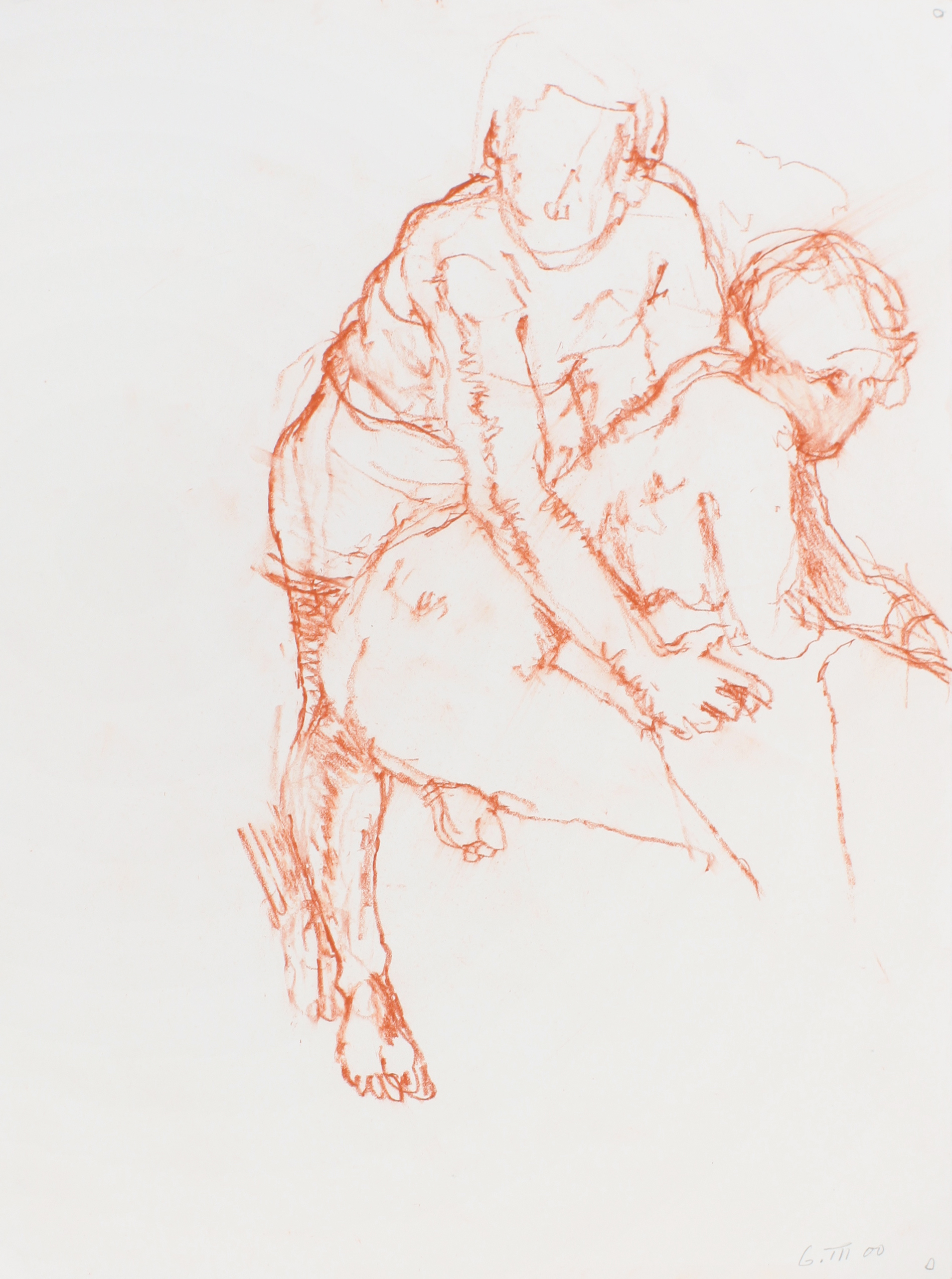 2000_Two_Nudes_Clasping_each_Other_red_conté_on_paper_15x11in_WPF578.jpg
