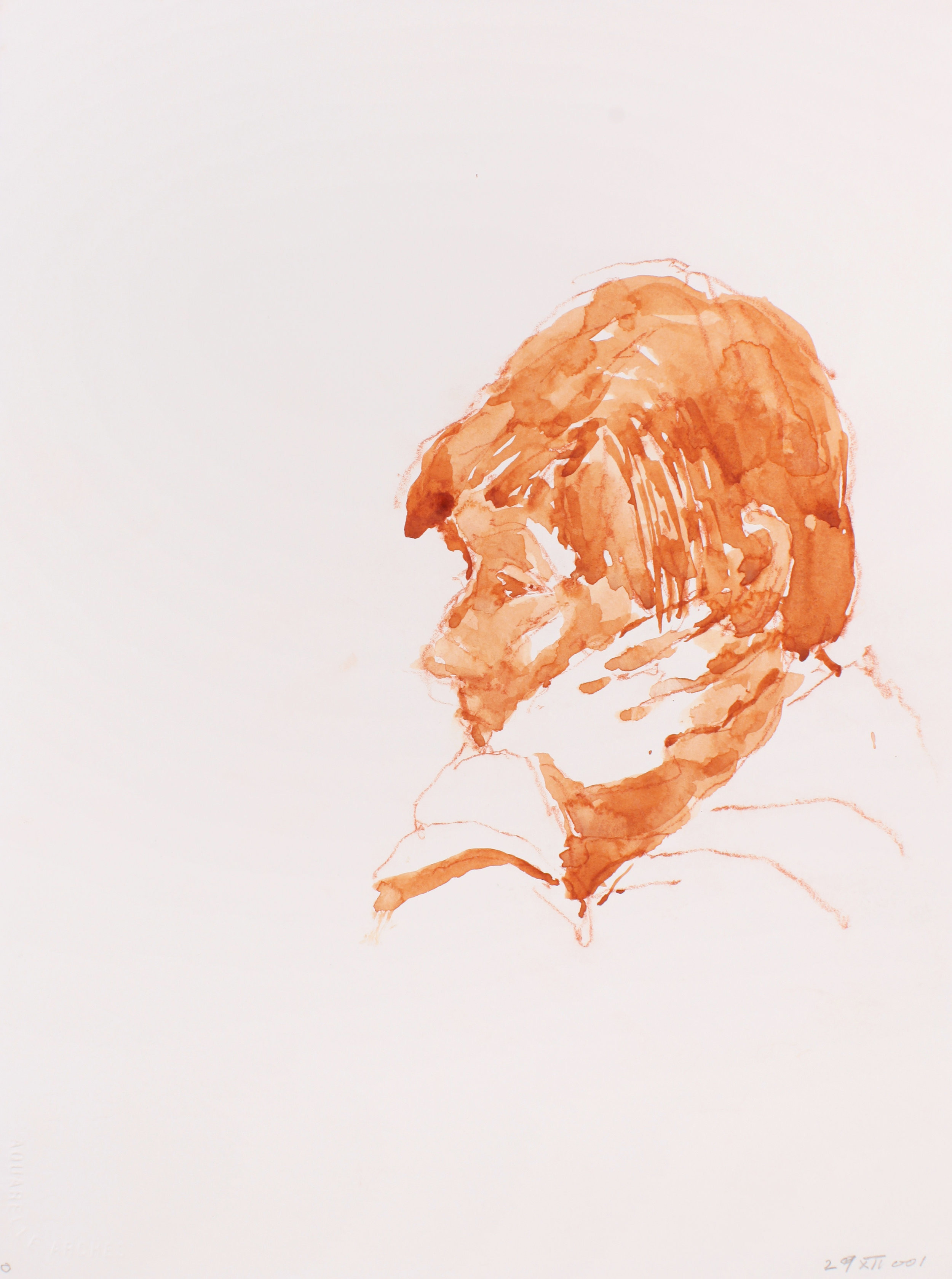 2001_Sandra_Head_in_Hand_watercolour_and_red_conté_on_paper_15x11in_WPF146.jpg