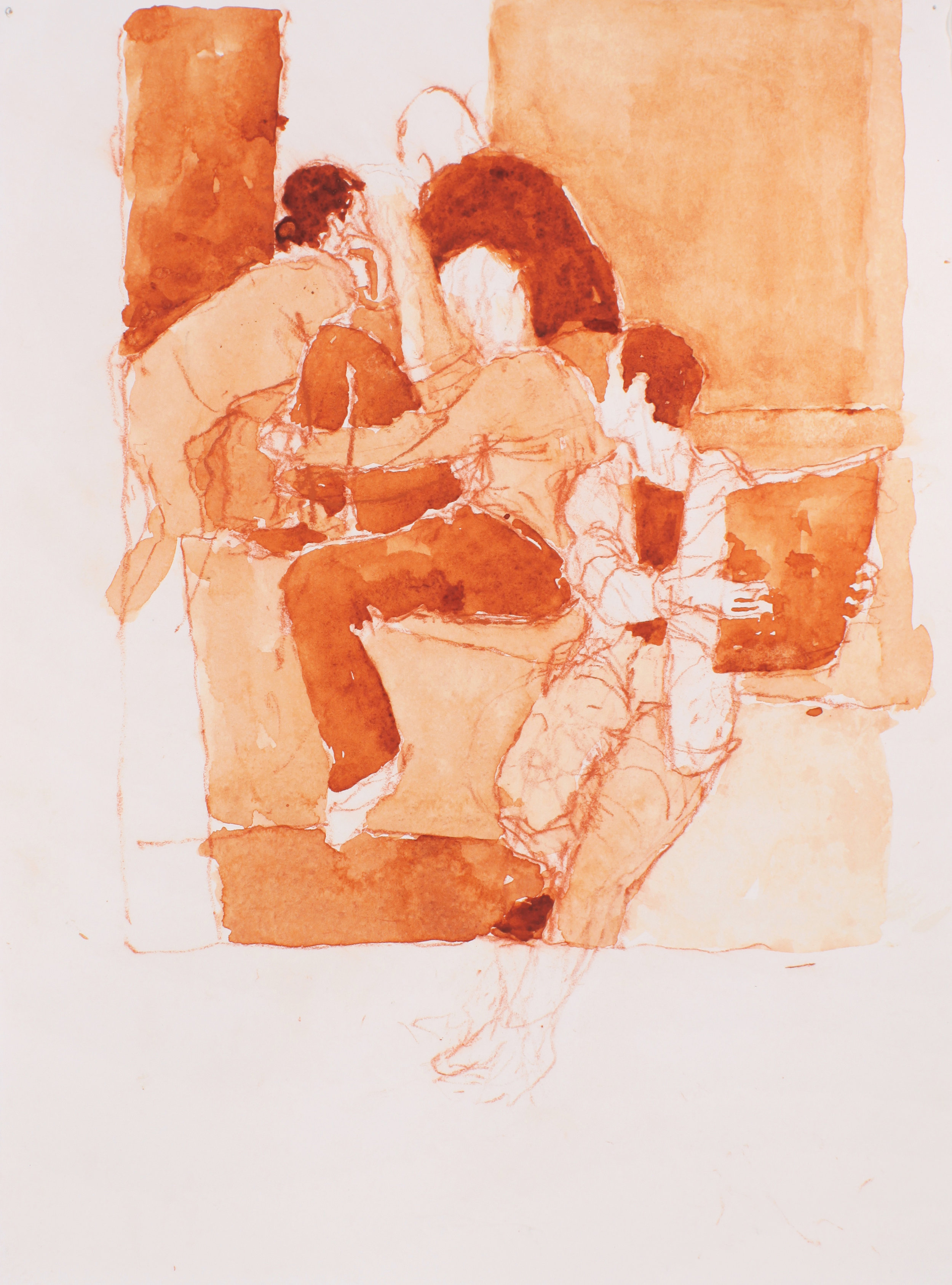 2002_Group_of_Four_Seated_Figures_watercolour_and_red_conte_on_paper_15x11in_WPF212.jpg