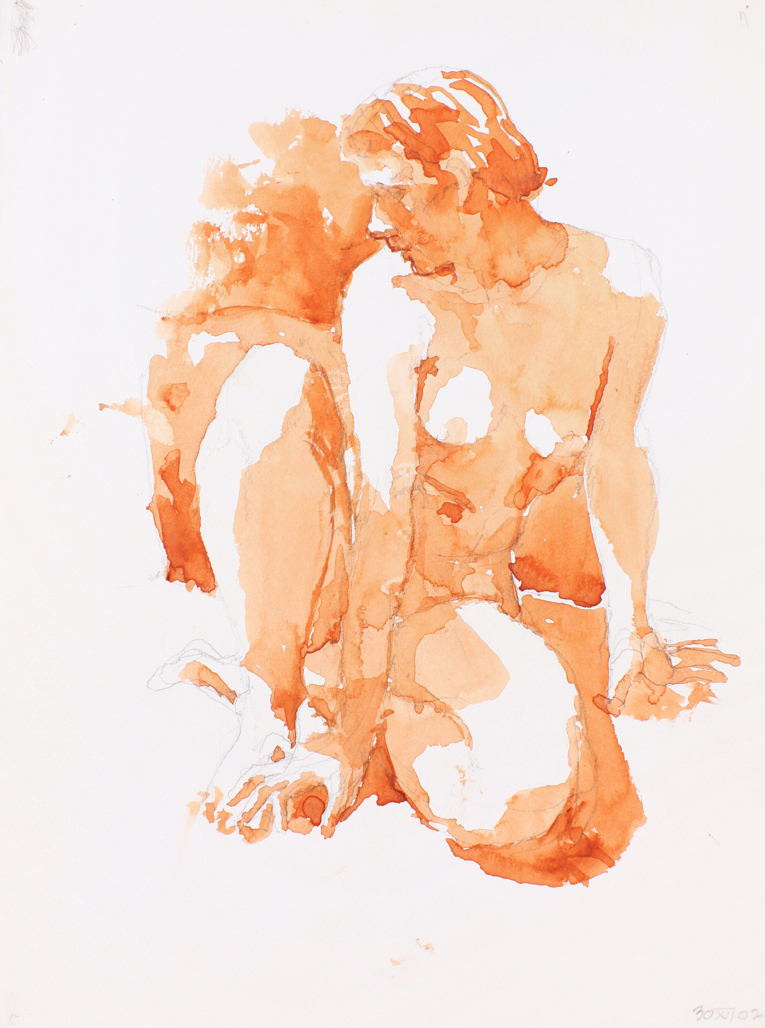 2002_Nude_Looking_Left_Seated_on_Floor_with_Bent_Legs_watercolour_and_pencil_on_paper_15x11in_WPF208.jpg