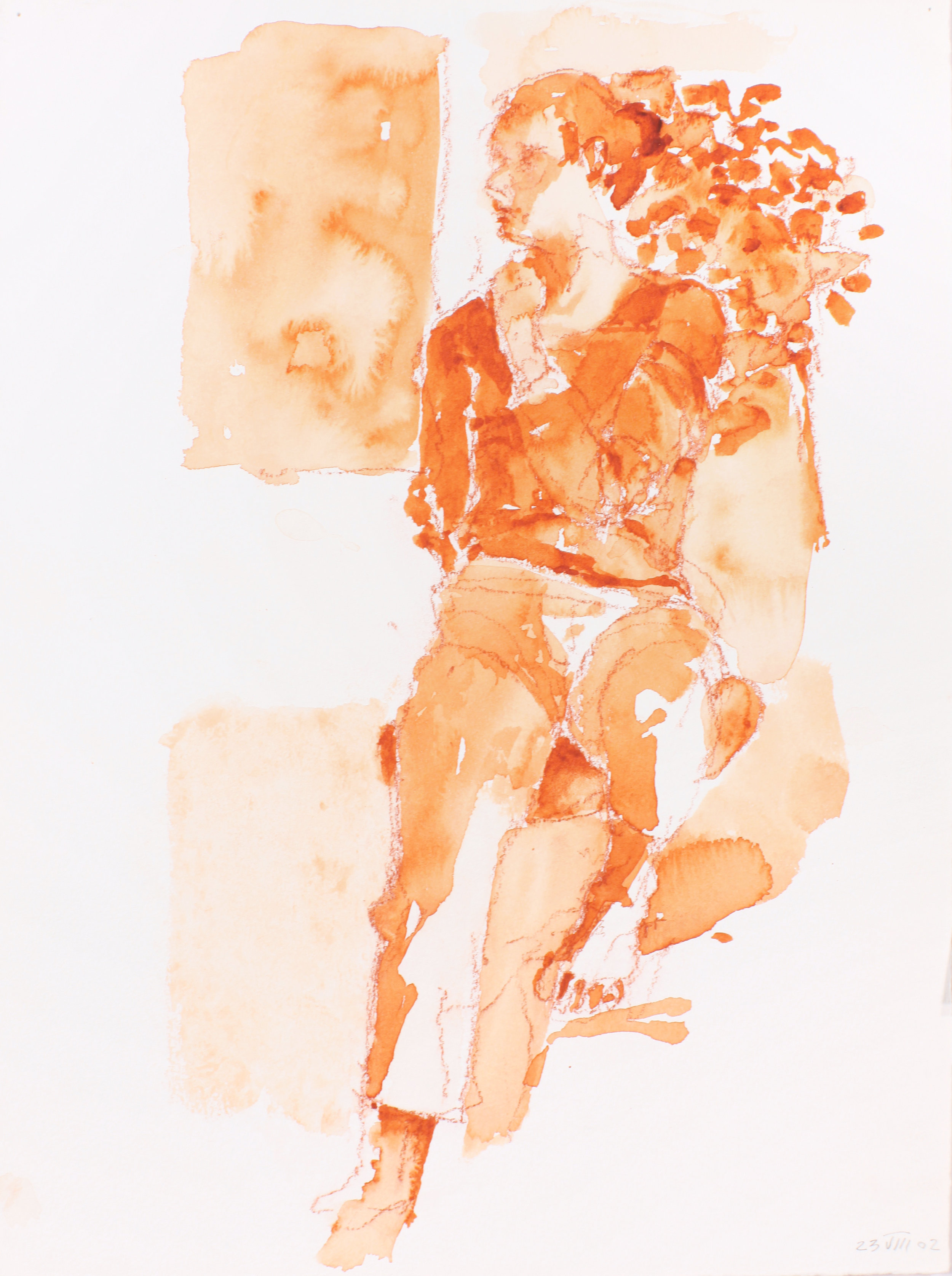 2002_Seated_Figure_Leaning_Against_Plant_watercolour_and_red_conté_on_paper_15x11in_WPF222.jpg