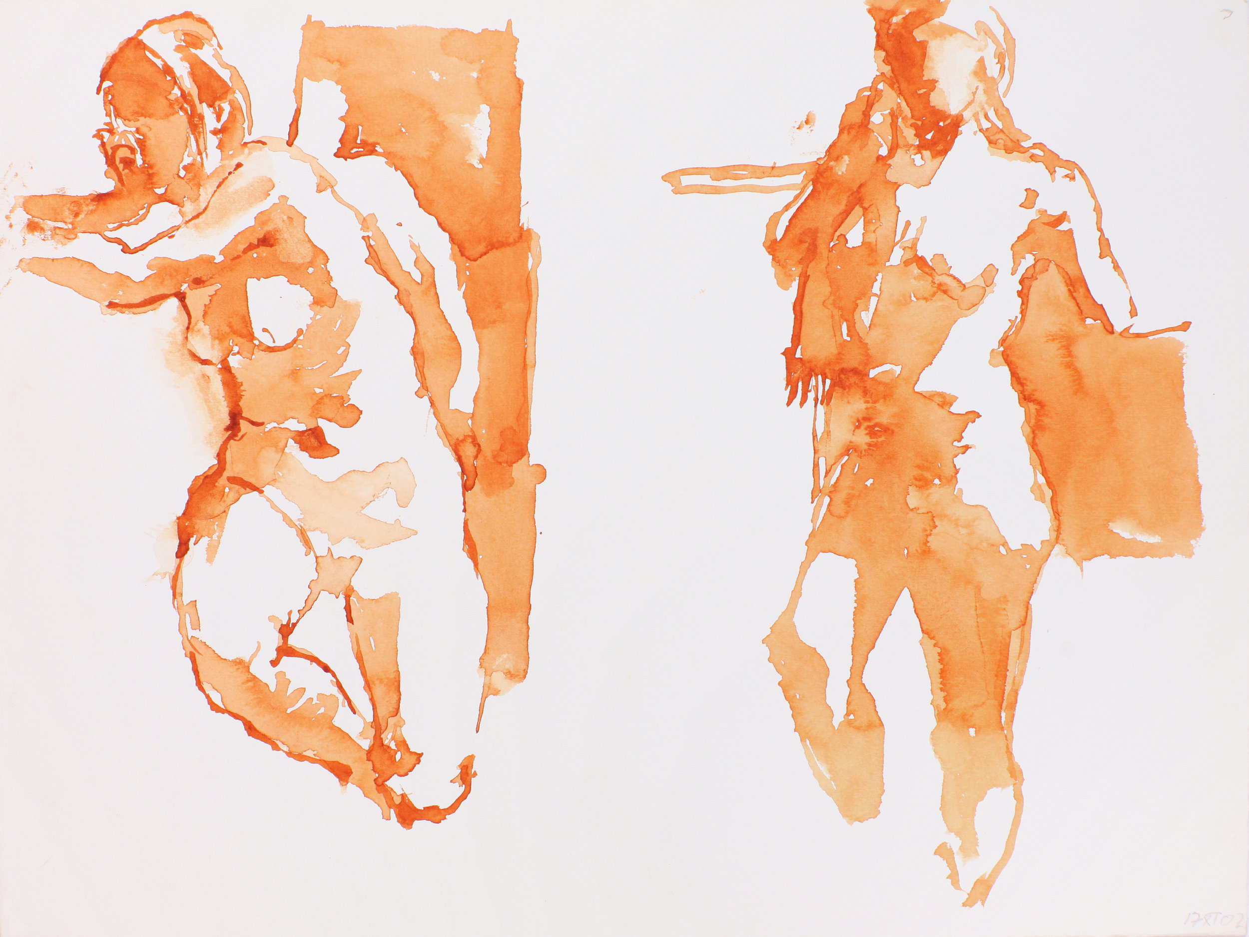 2002_Two_Standing_Nudes_with_Bent_Leg_watercolour_on_paper_11x15in_WPF216.jpg