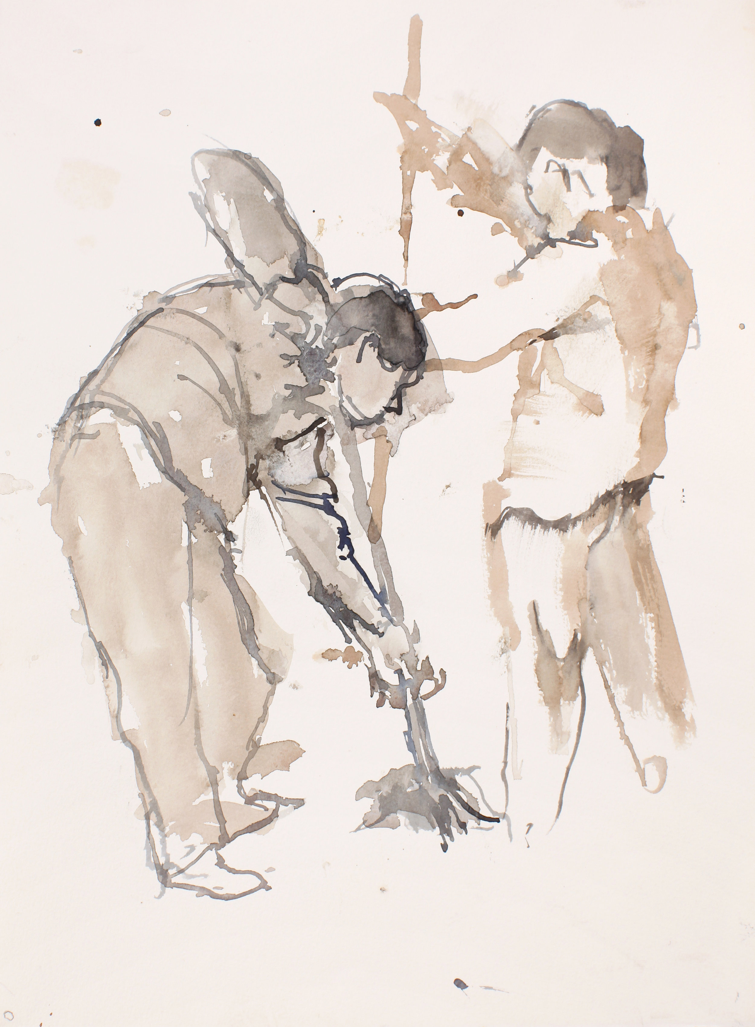2005_Study_for_Cleaners_with_Two_Figures_Watercolour_on_Paper_15x11in_WPF088.jpg