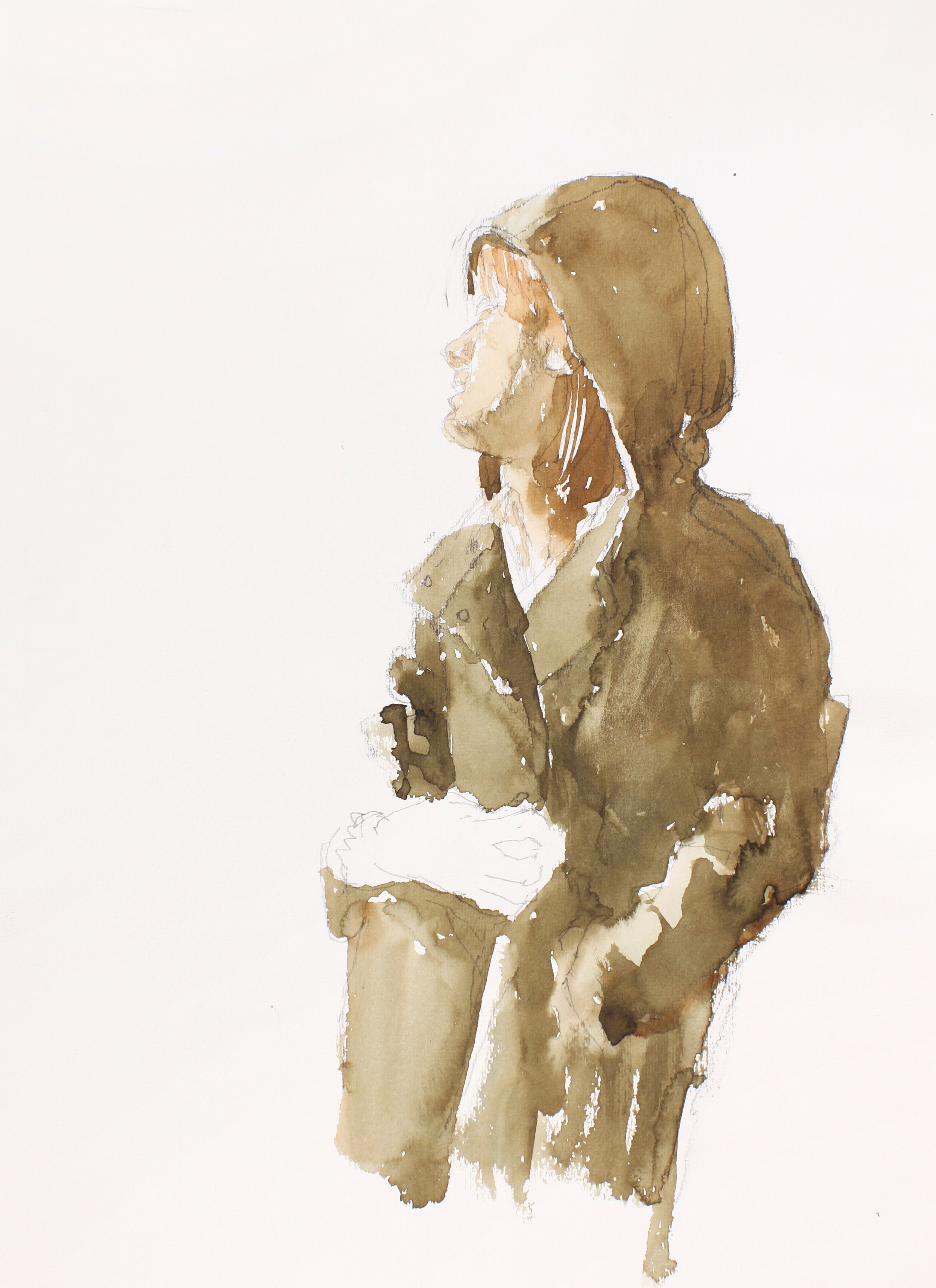 2005_Woman_with_Hooded_Coat_Watercolour_and_pencil_on_paper_15x11inches_WPF091.jpg