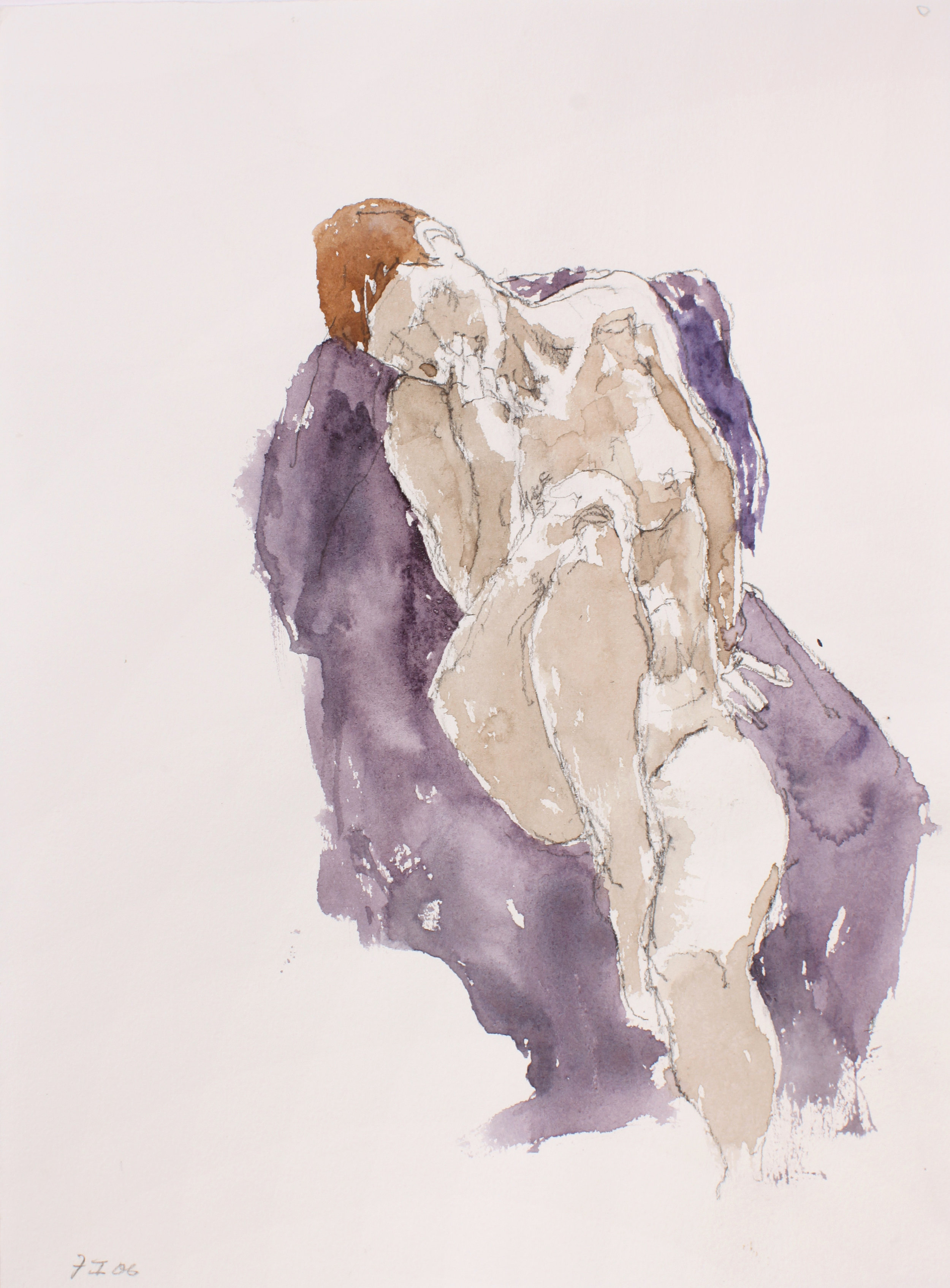 2006_Seated_Nude_with_Raised_Leg_on_Mauve_Cloth_Watercolour_on_paper_15x11inches_WPF096.jpg