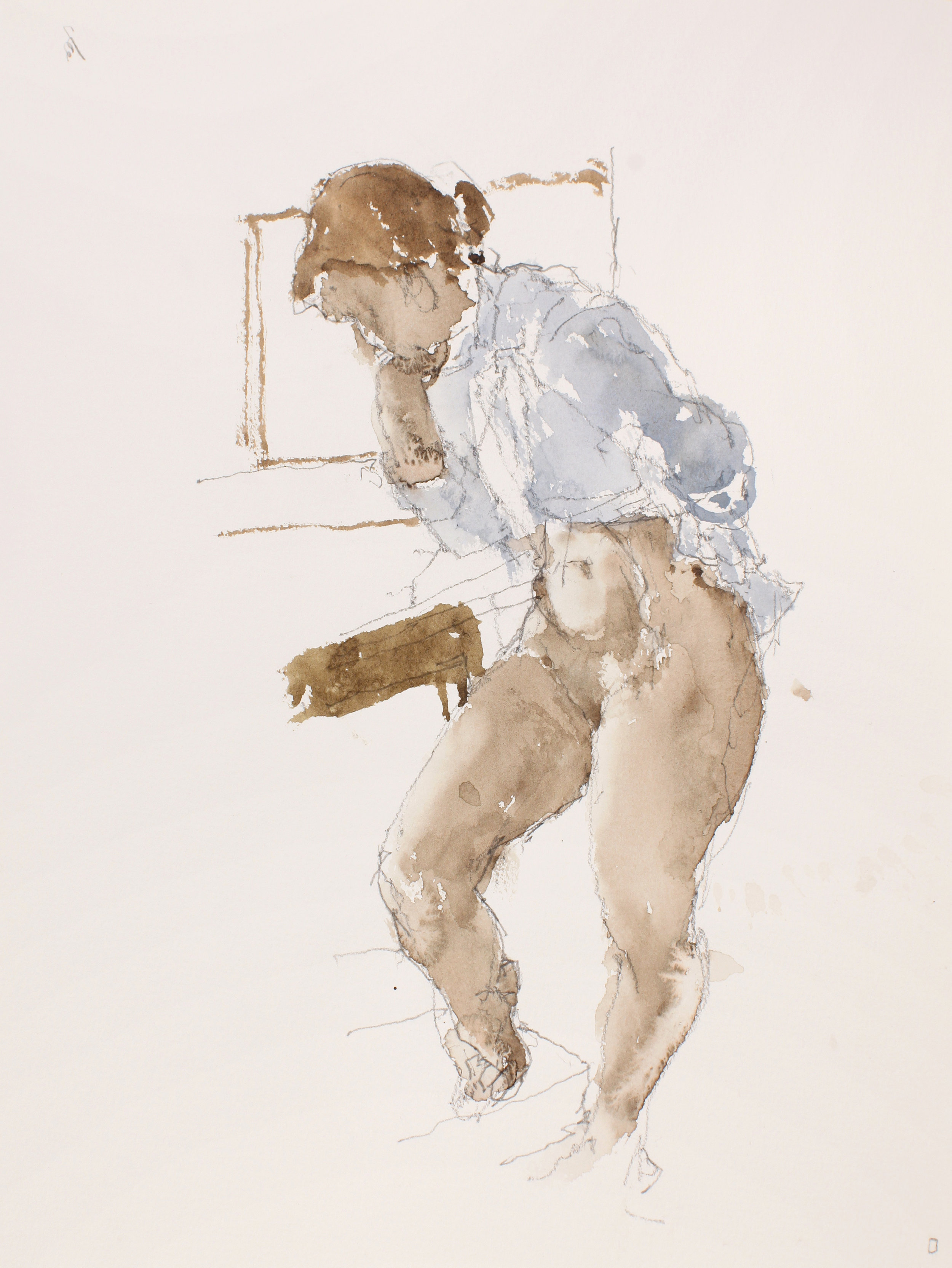 2006_Standing_Nude_with_Blue_Shirt_watercolour_and_pencil_on_paper_15x11in_WPF485.jpg