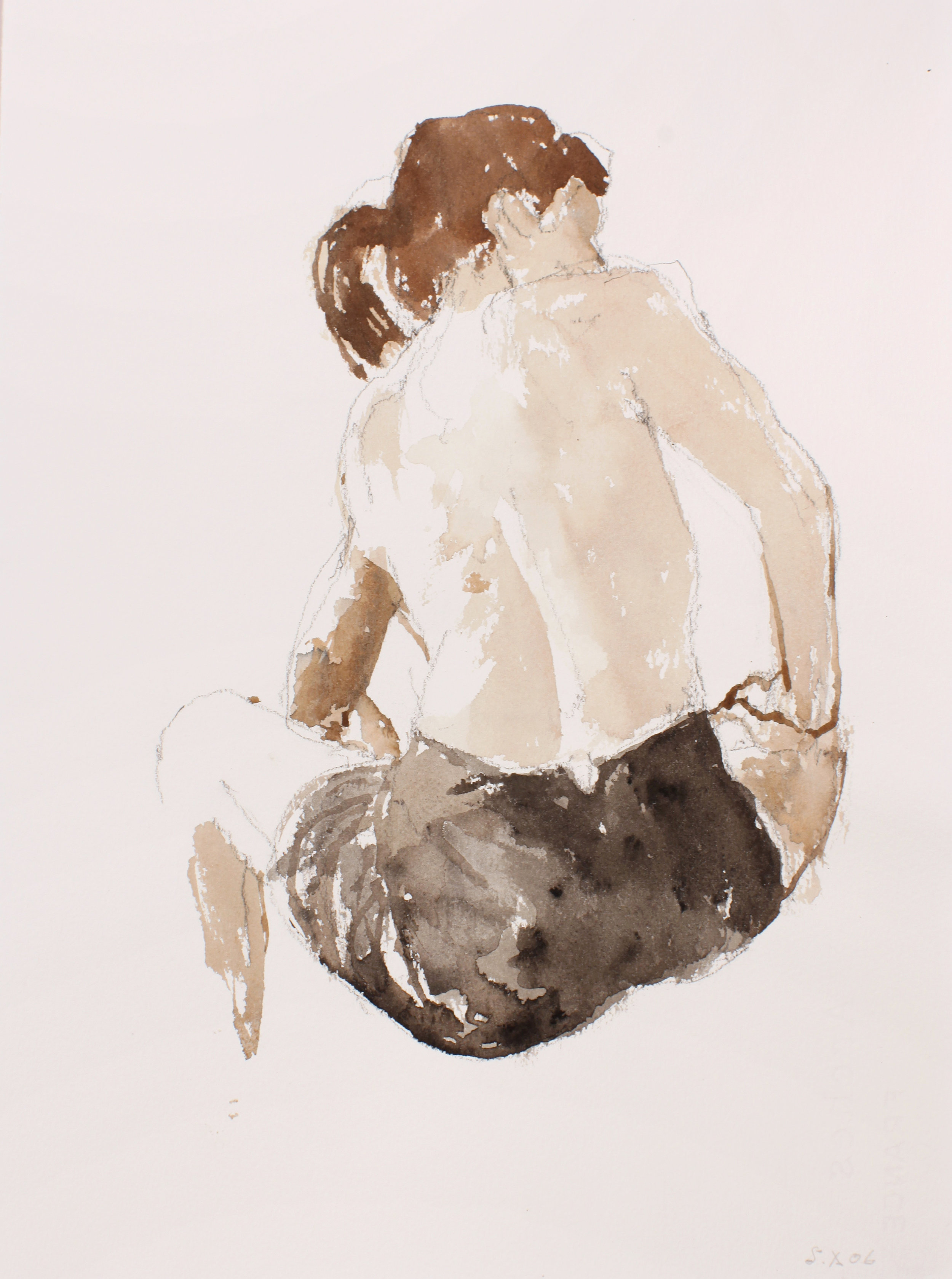 2006_Woman_Wearing_Skirt_watercolour_and_pencil_on_paper_15x11in_WPF100.jpg