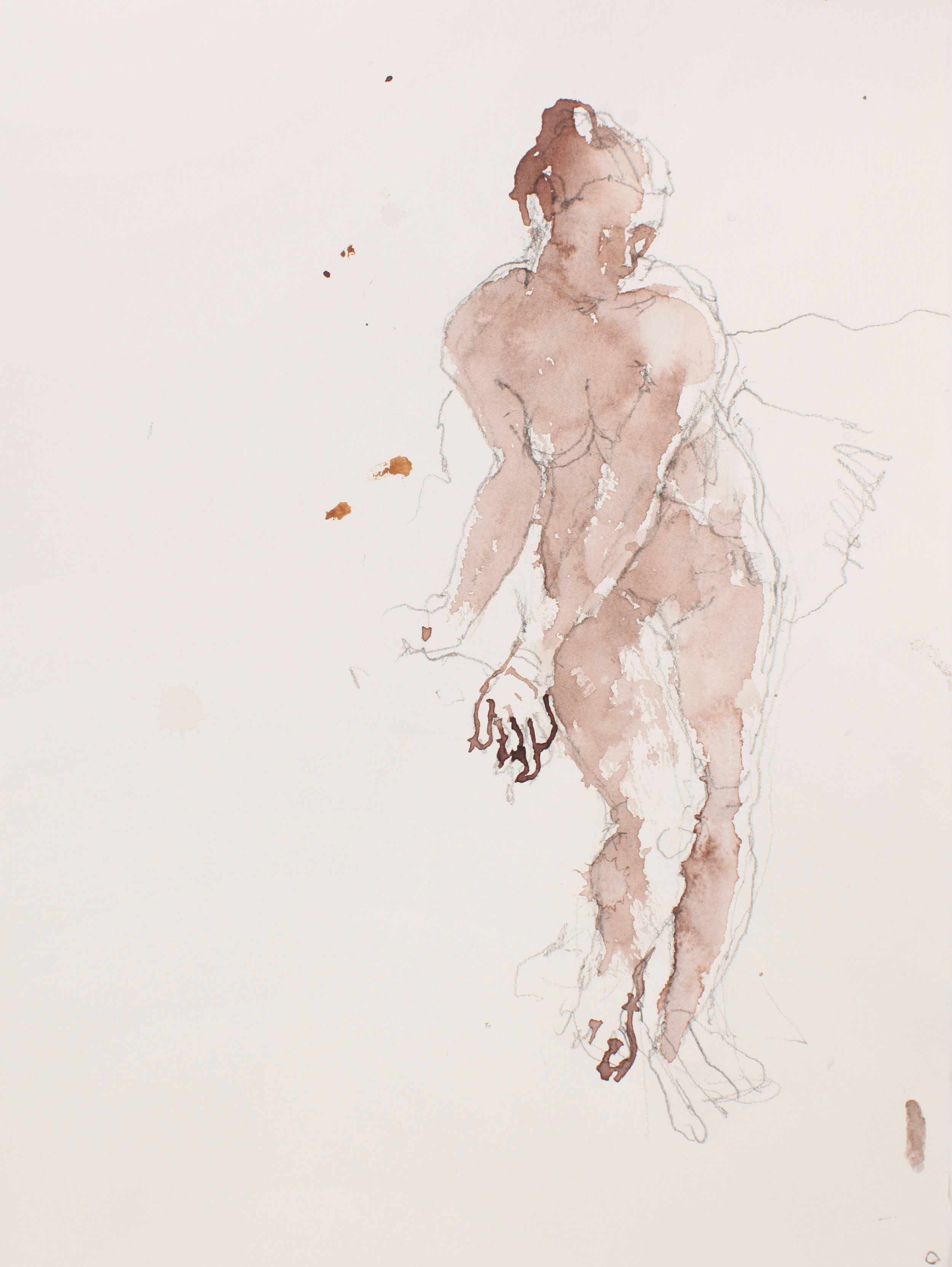 2007_Standing_Nude_with_Arms_Turned_to_Left_watercolour_and_pencil_on_paper_15x11in_WPF516.jpg