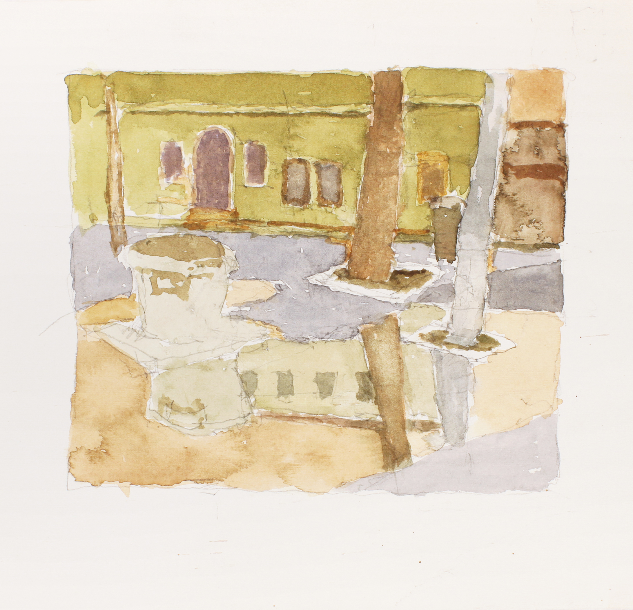 1990s_Campo_After_the_Rain_Sant_Alvise_Venice_watercolour_and_pencil_on_paper_11x12in_WPF332.jpg