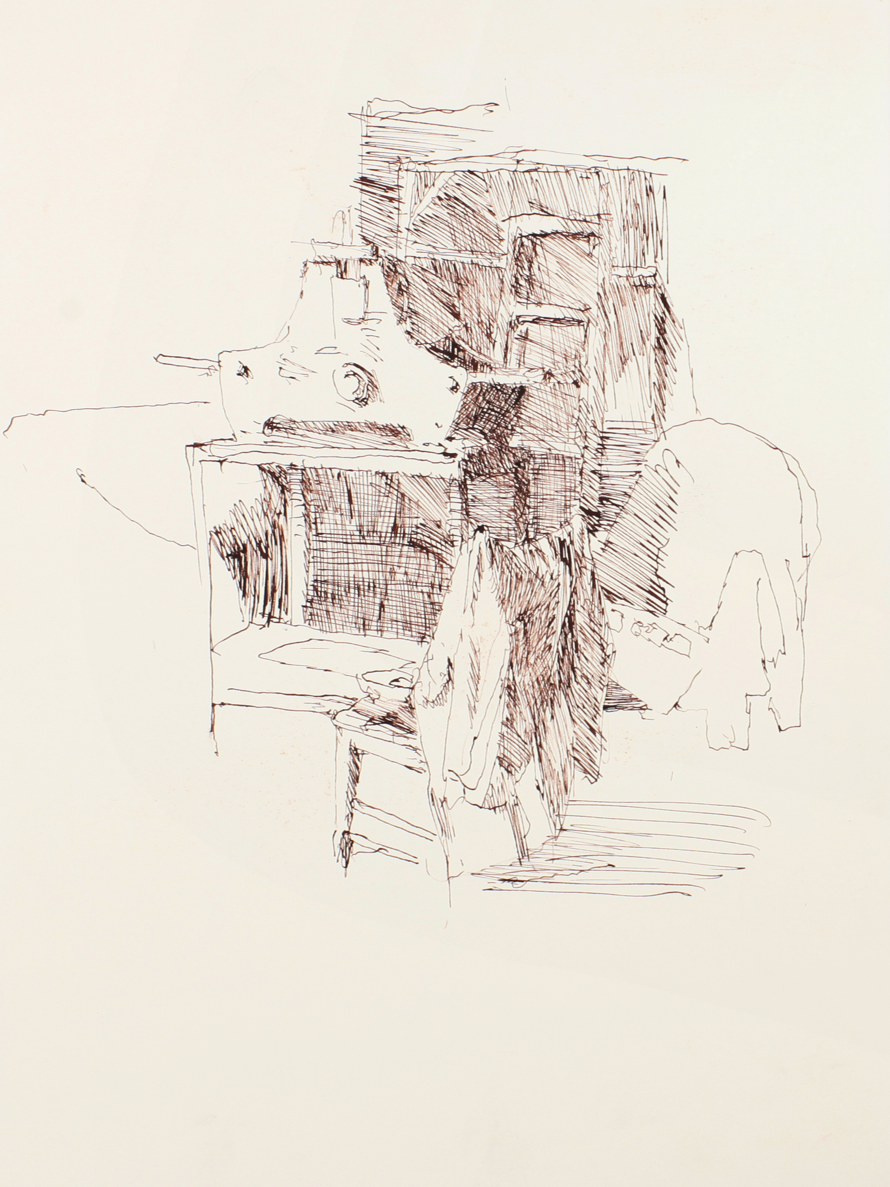 1990s_Studio_with_Ladder_and_Press_ink_on_paper_15x11in_WPF106.jpg