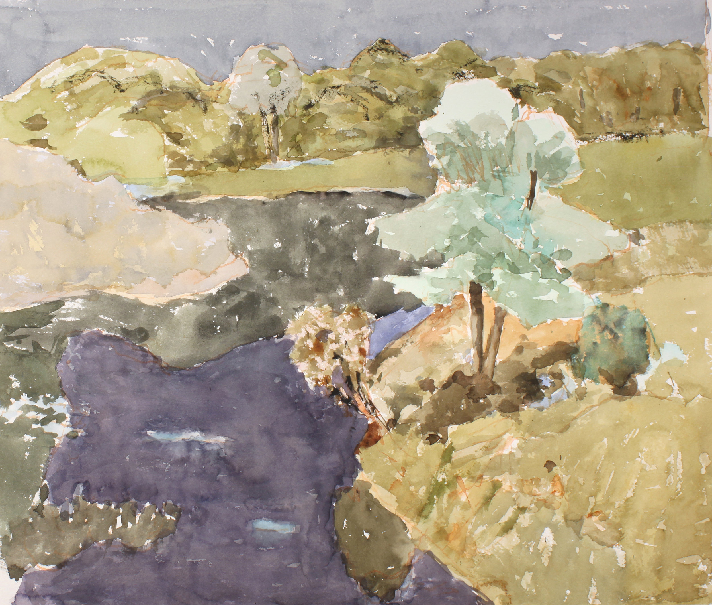 1992_Landscape_with_Dark_Water_Maine_watercolour_on_paper_16x19in_WPF670.jpg