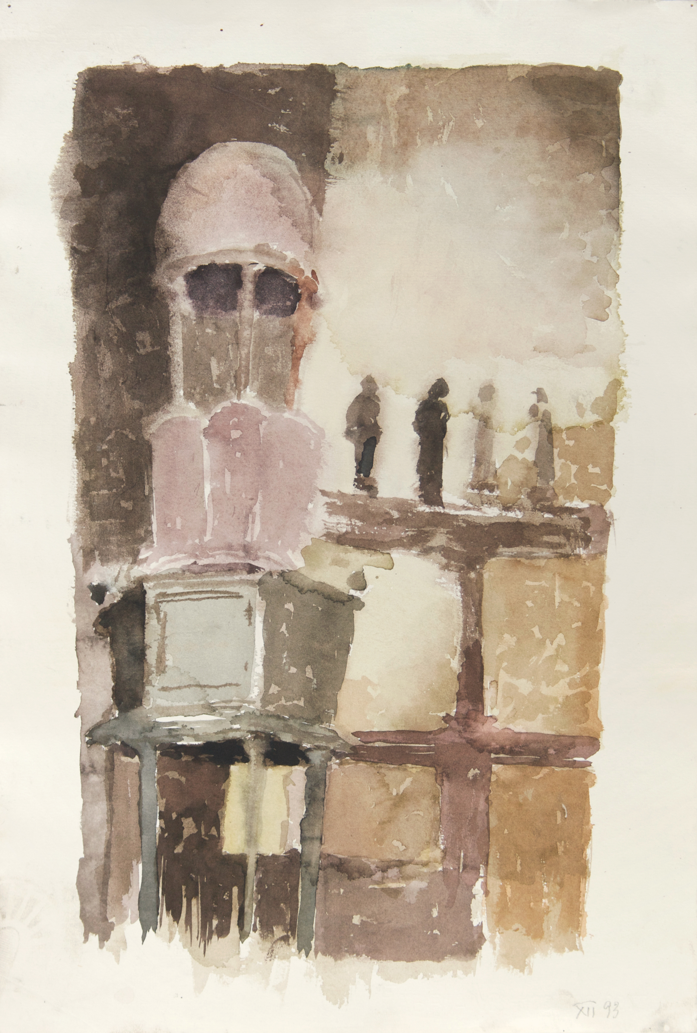 1993_Interior_of_San_Marco_watercolour_on_paper_22x15in_WPF301.jpg