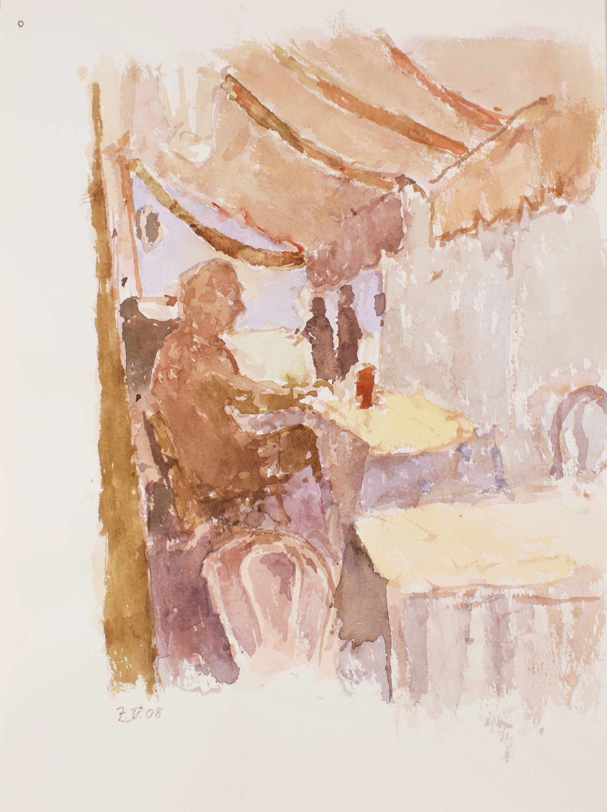2008_Venice_Cafe_near_Lagoon_watercolour_on_paper_15x11in_WPF422.jpg