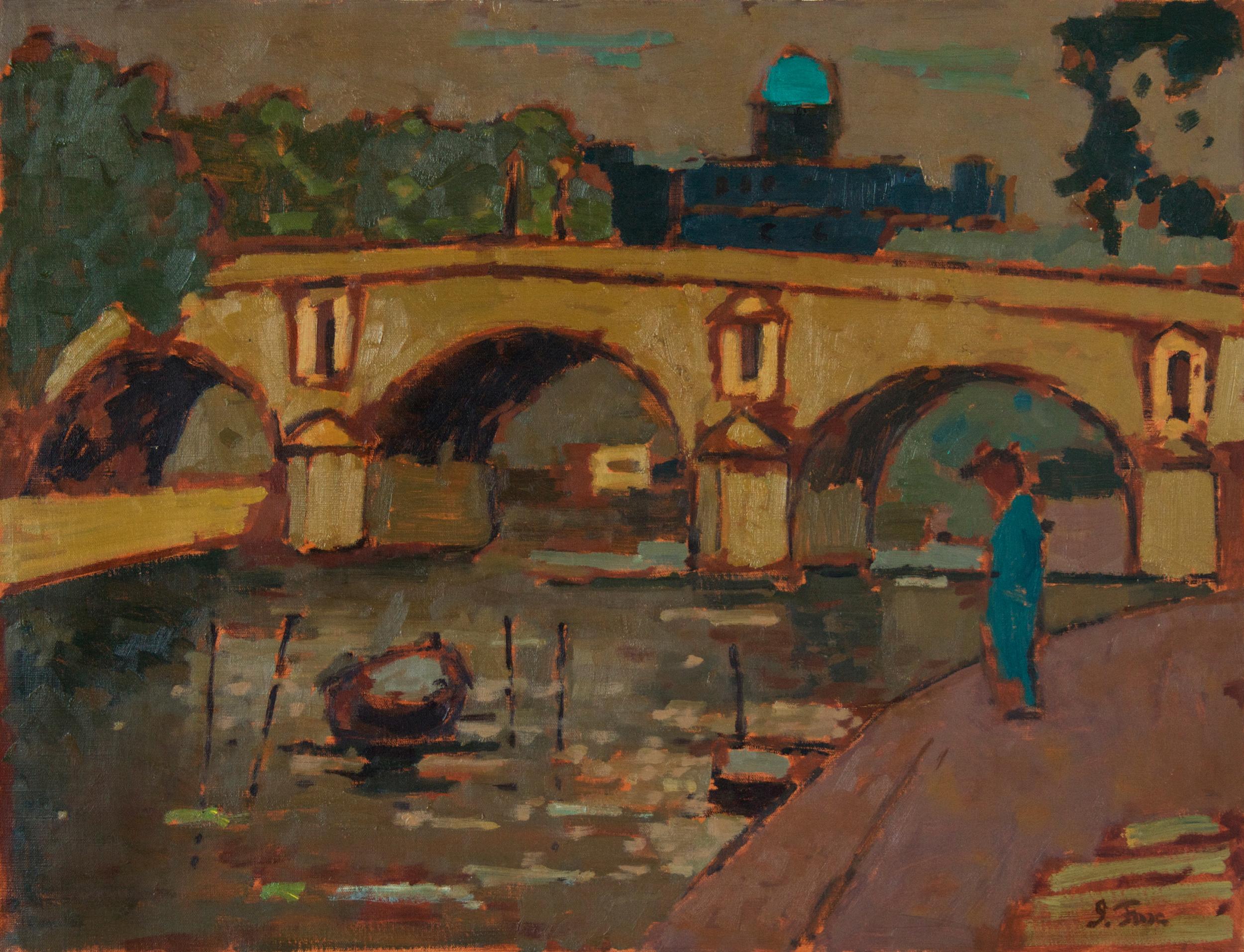 Paris Bridge with Figure