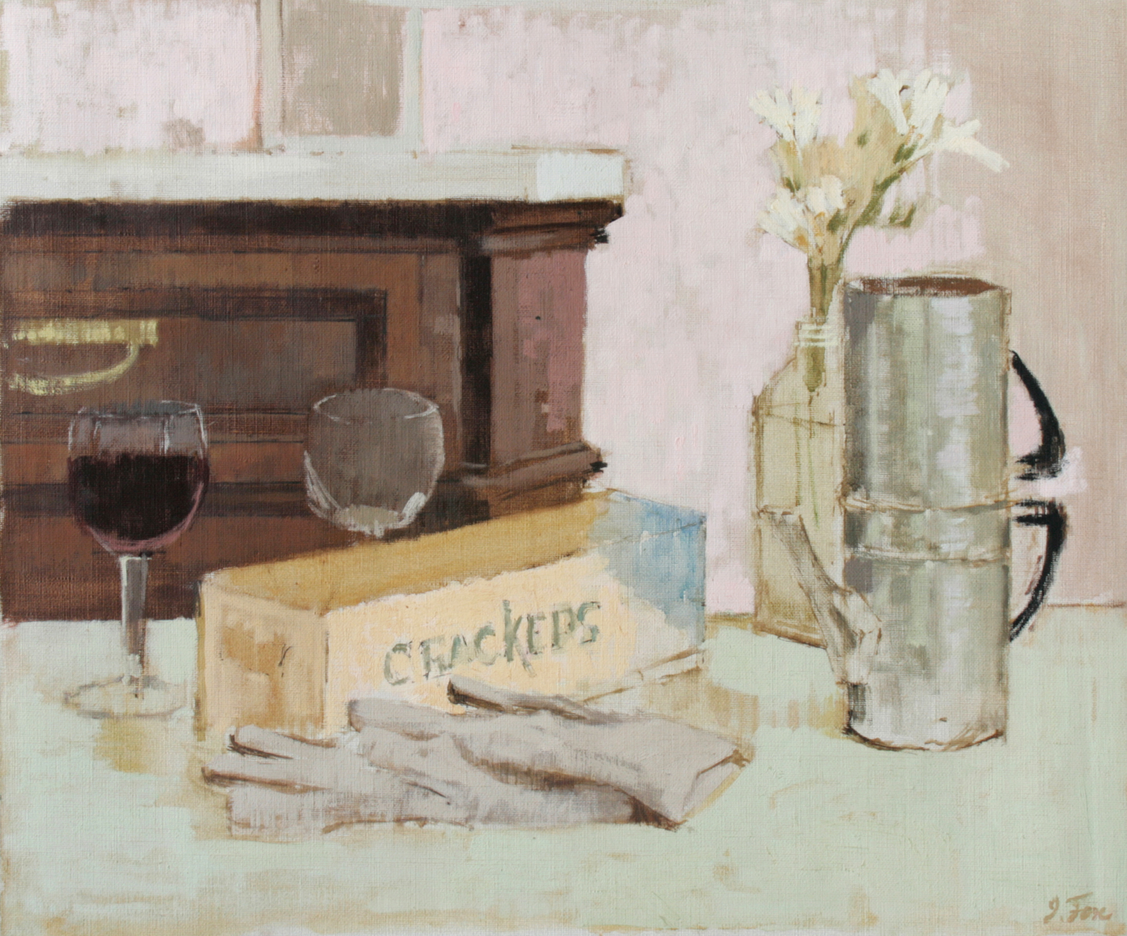 Still Life with Gloves and Coffee Pot