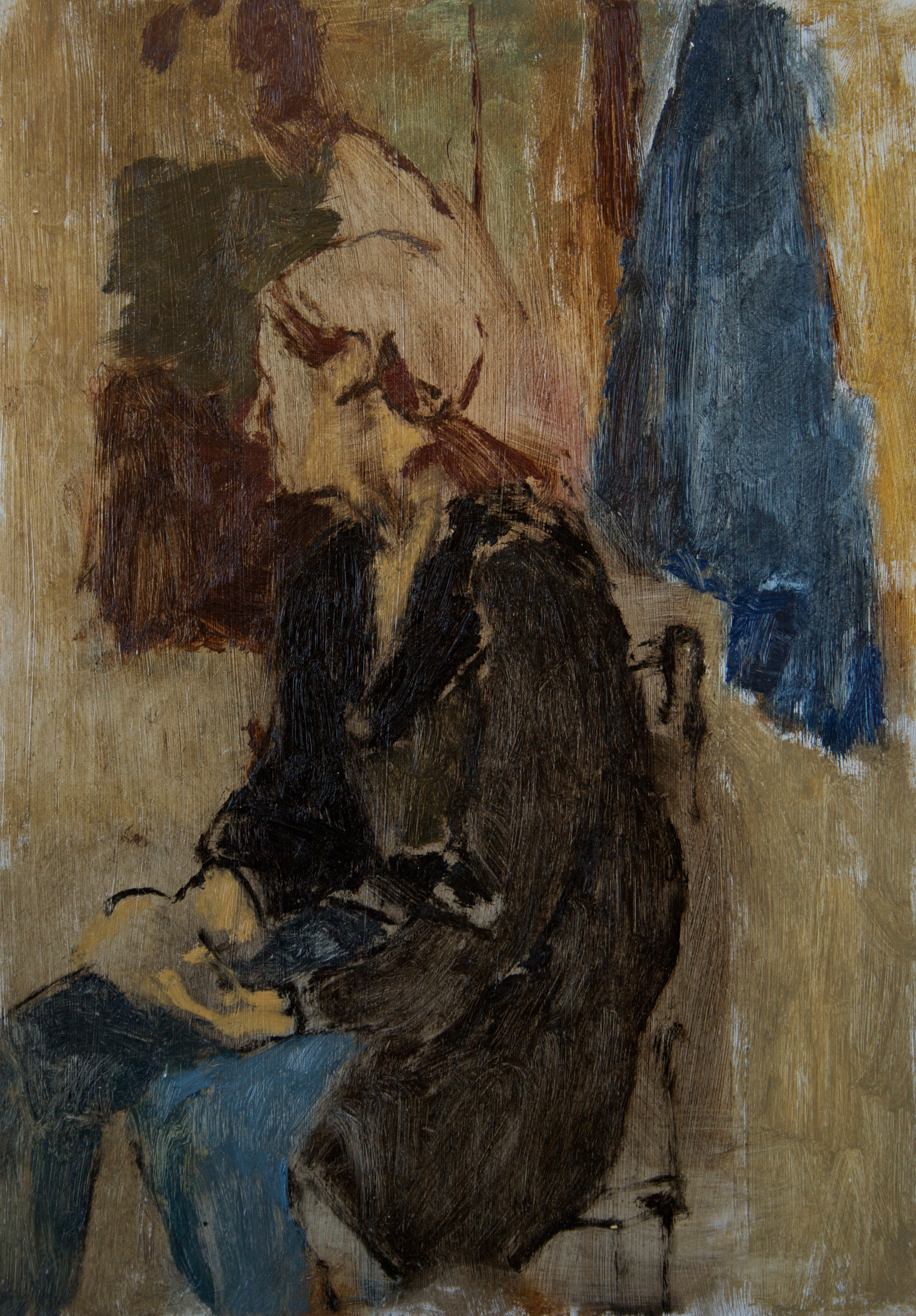 Figure in Black Coat