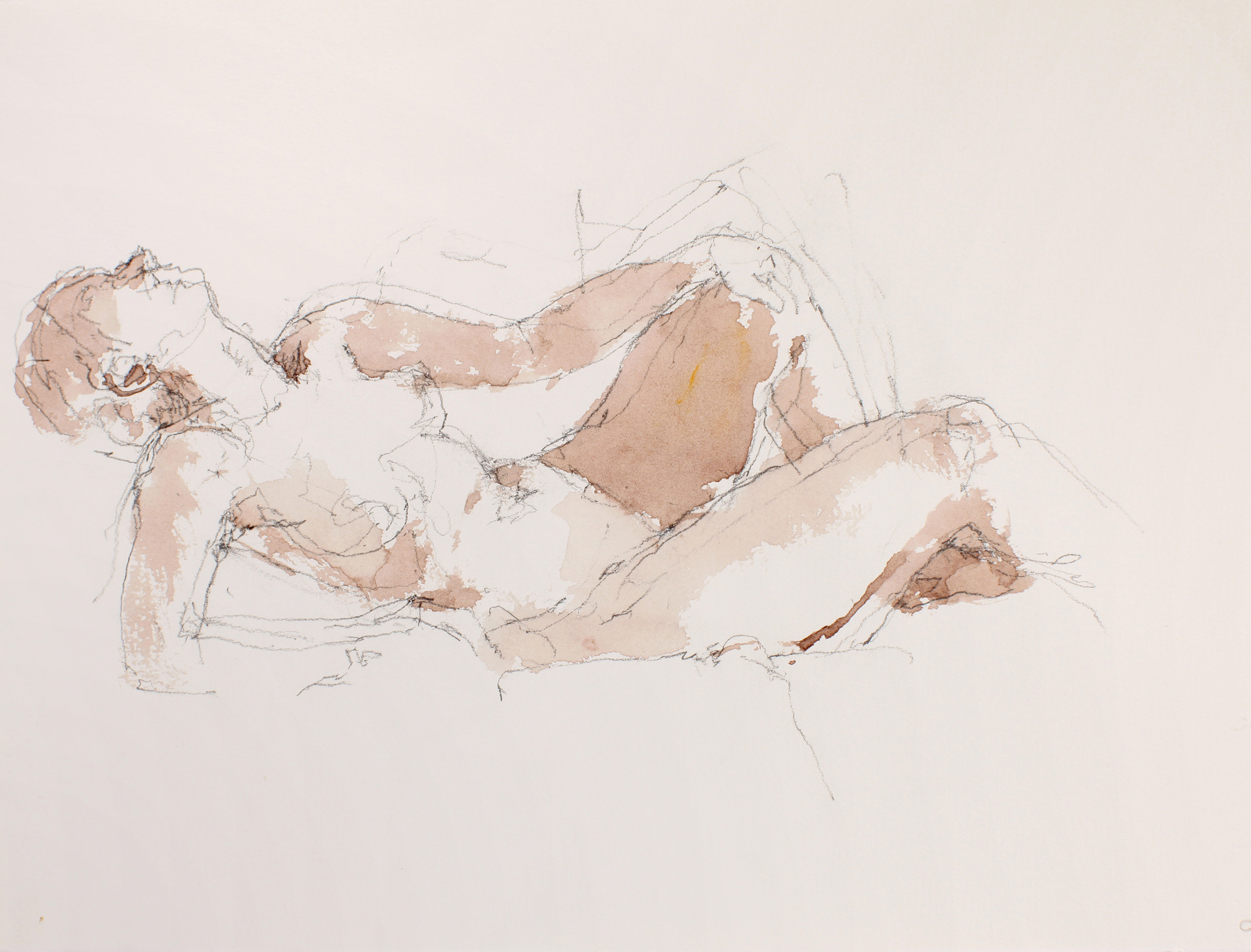 Reclining Nude with Head Thrown Back