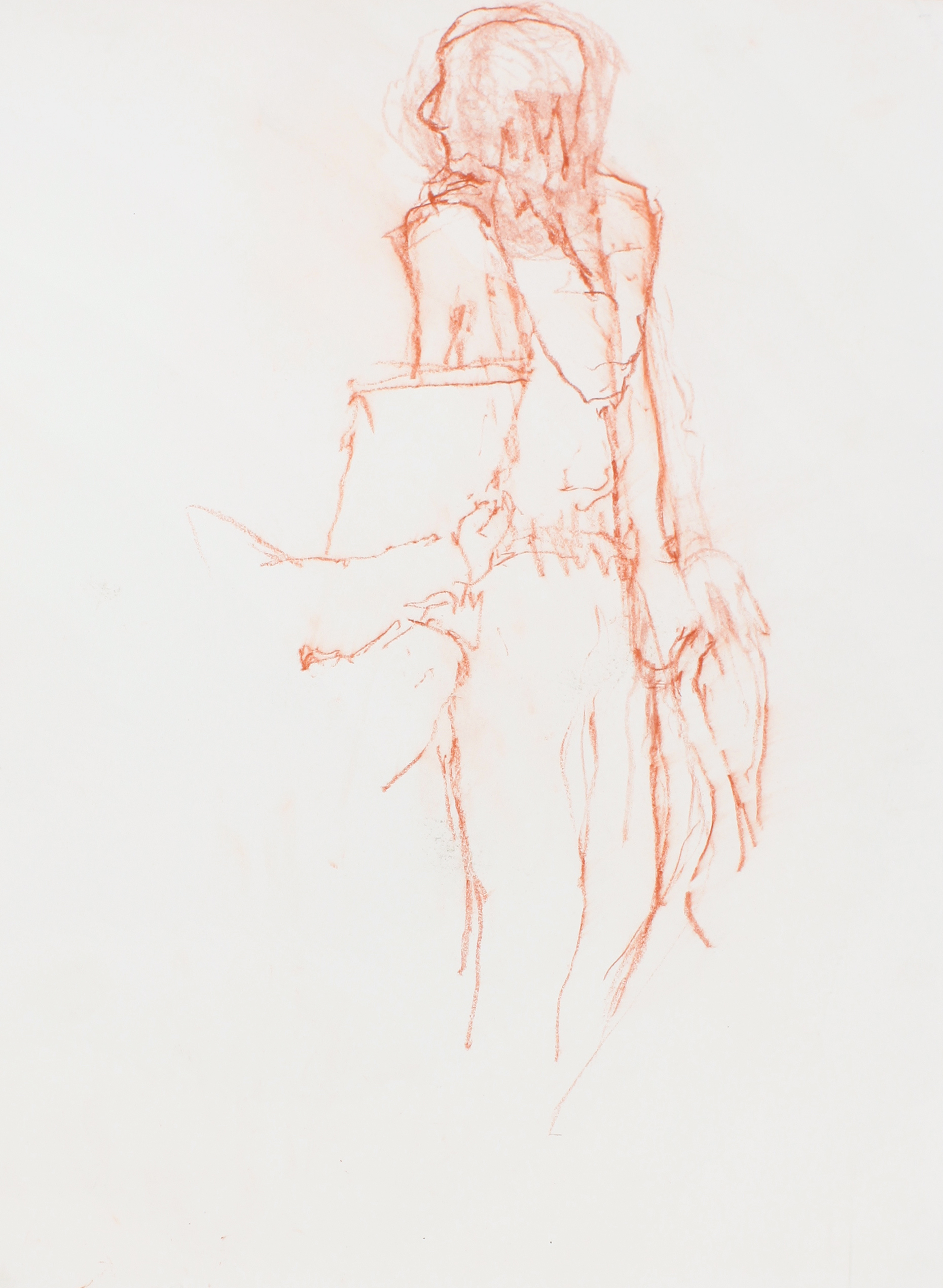 Standing Figure with Second Figure Holding Object