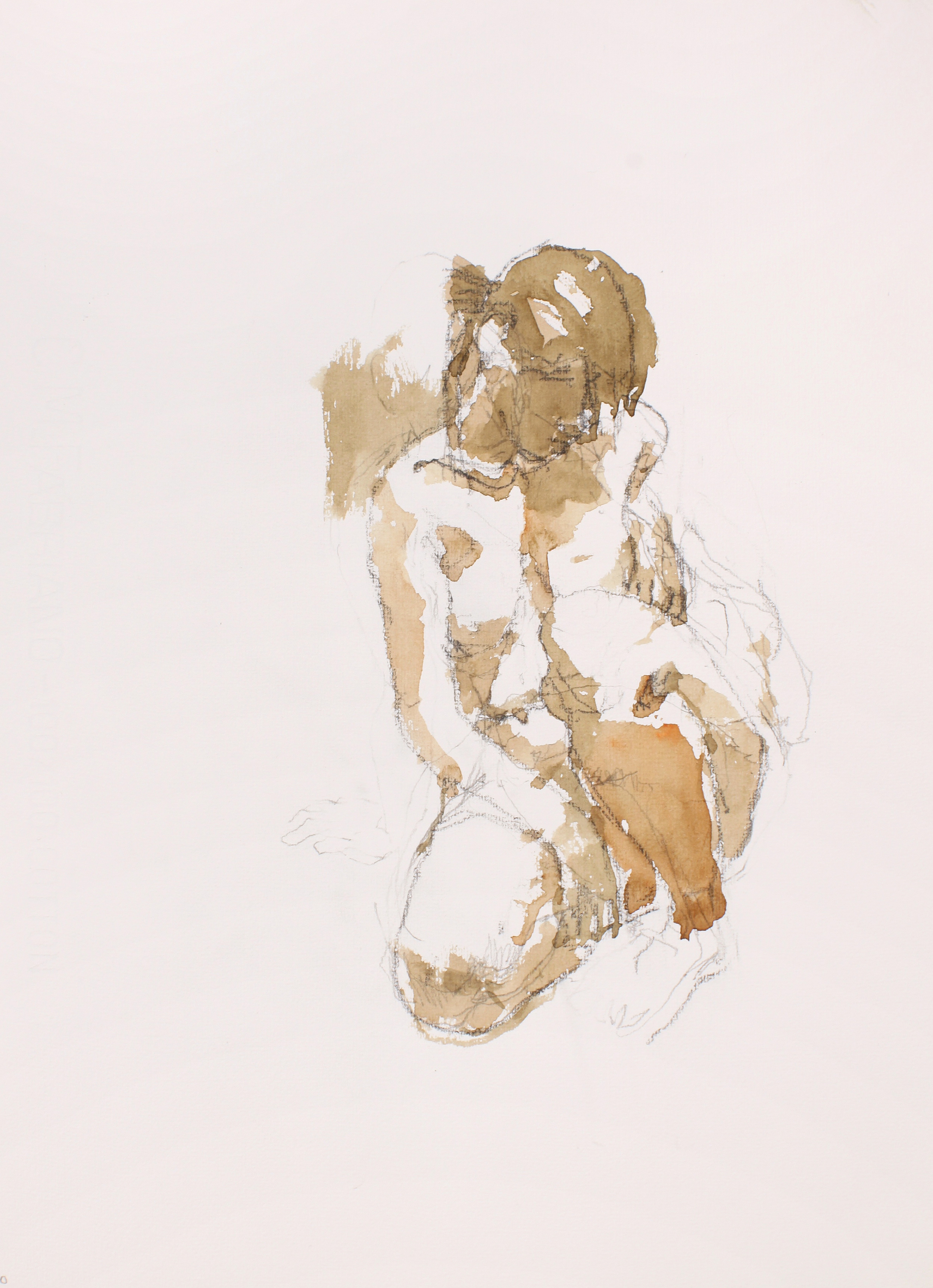 2006_Kneeling_Nude_with_Head_Downwards_watercolour_and_pencil_on_paper_15x11in_WPF492.jpg