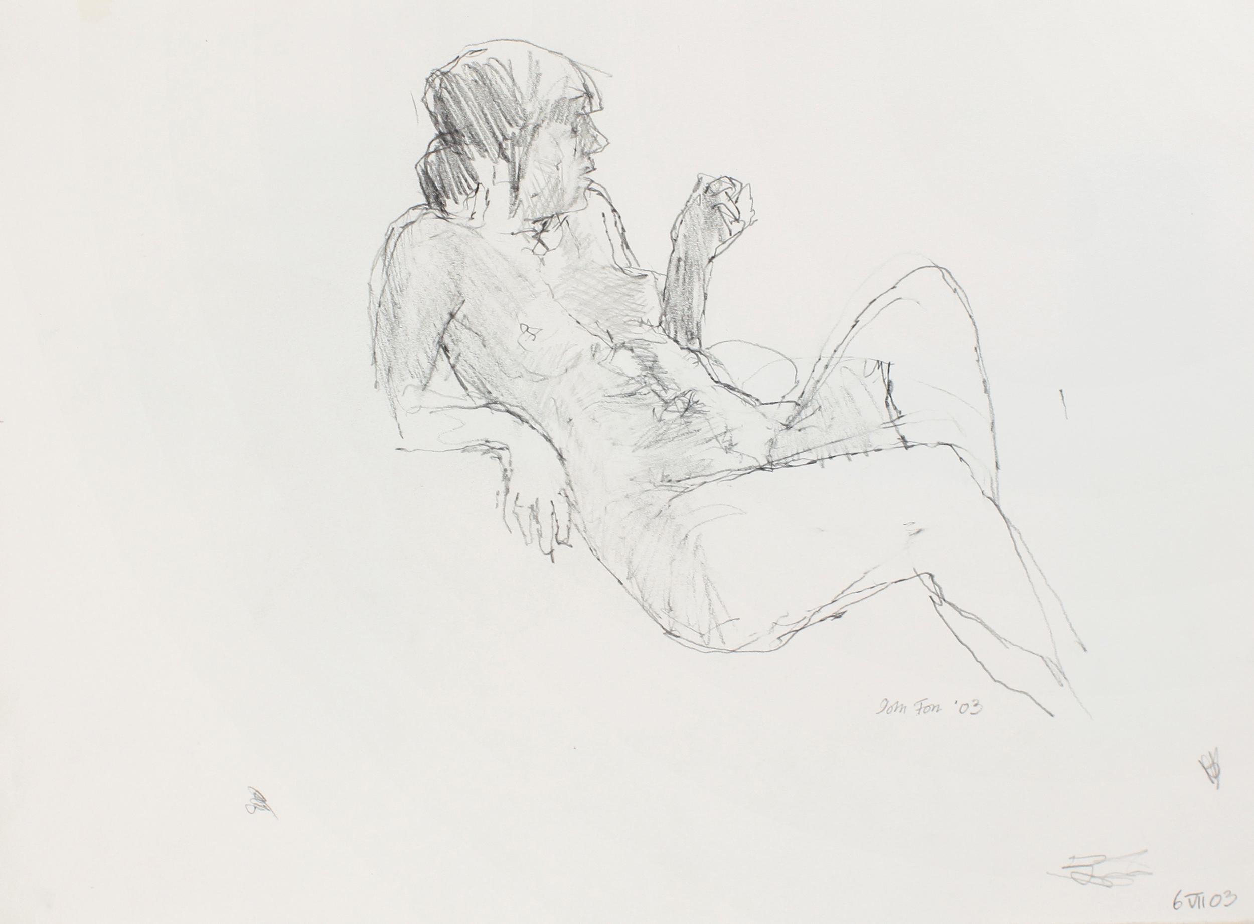 2003_Reclining_Nude_with_Raised_Arm_and_Leg_pencil_on_paper_11x15in_WPF499.jpg