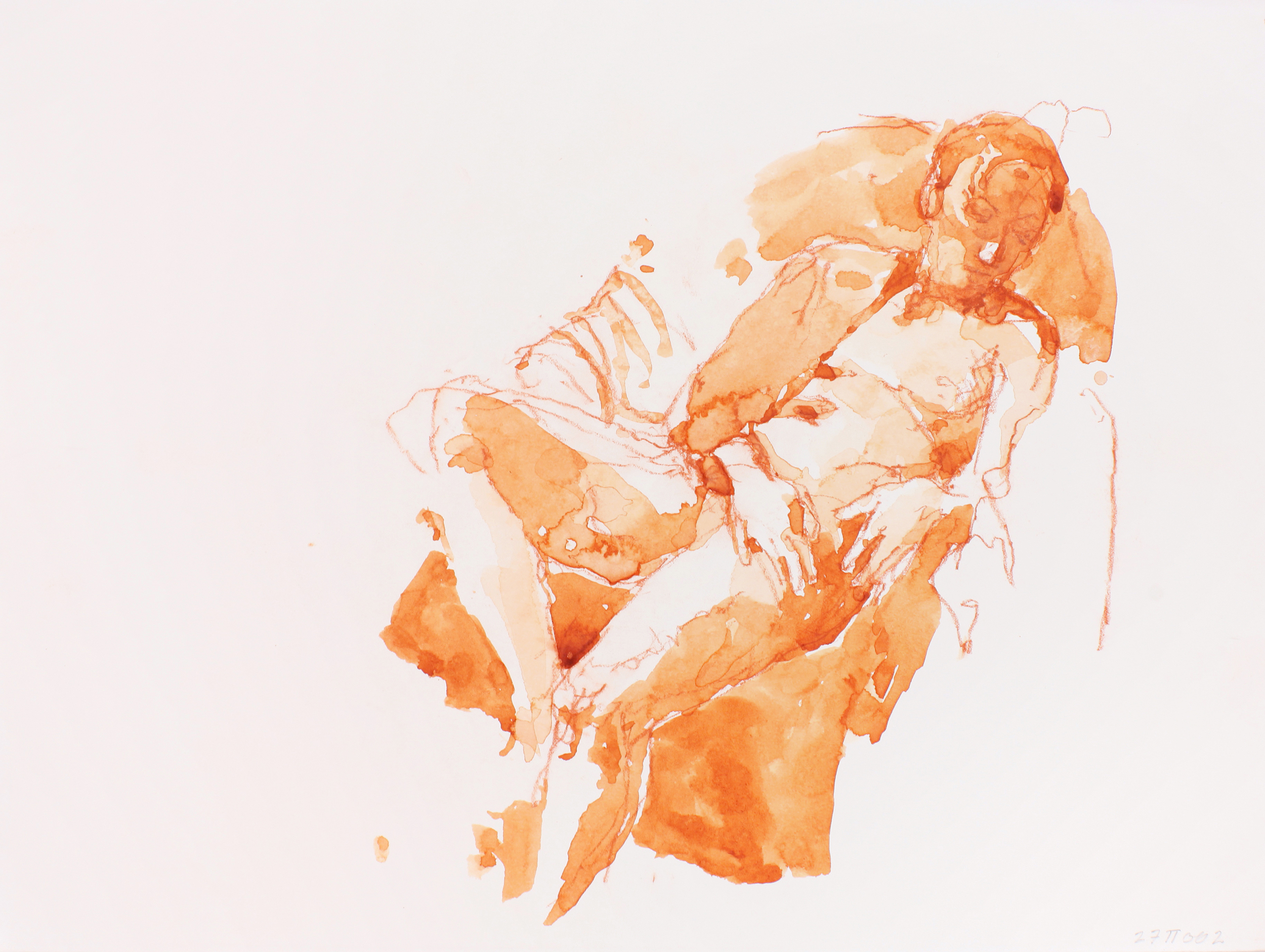2002_Male_Nude_Reclining_in_Armchair_with_Turned_Head_watercolour_and_red_conté_on_paper_11x15in_WPF210.jpg