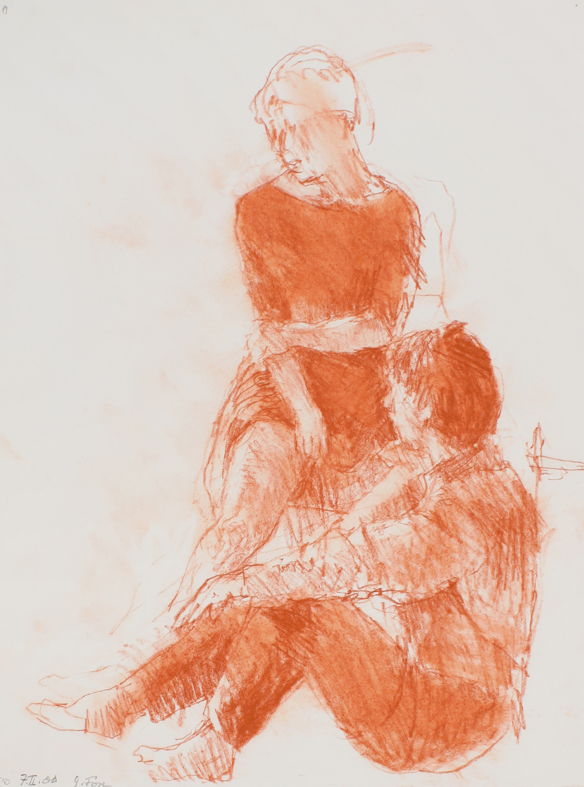 2000_Couple_Sitting_on_chair_and_Floor_red_conté_on_paper_15x11in_WPF536.jpg