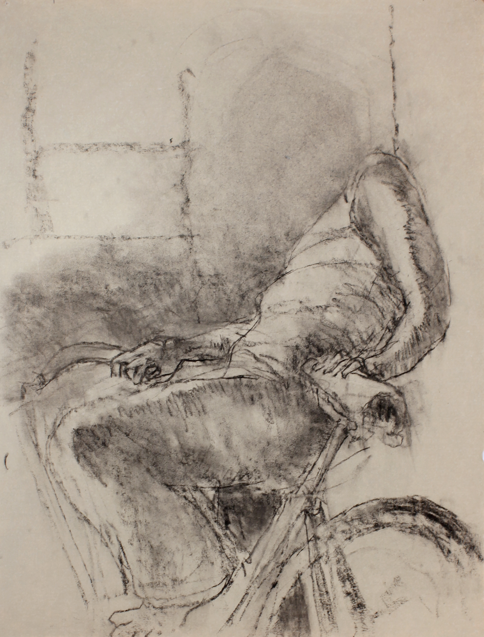 Figure on Bicycle
