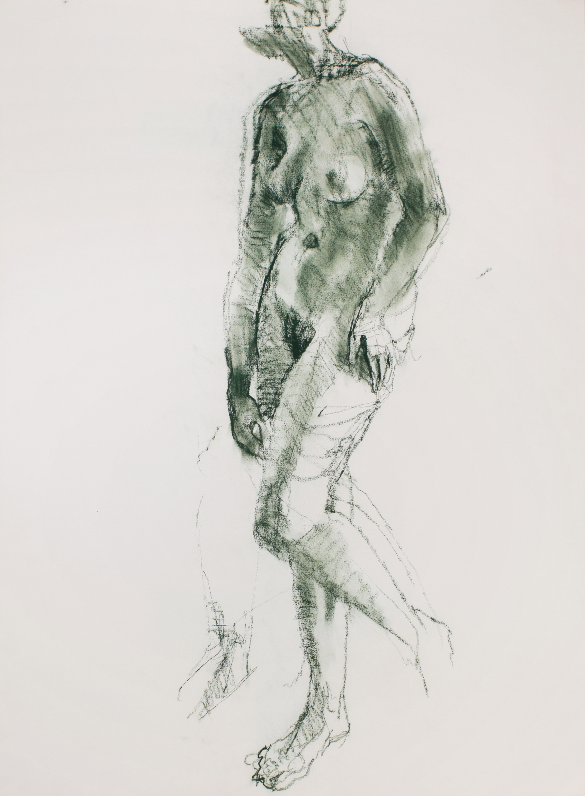 1990s_Standing_Nude_(Green)_green_pastel_on_paper_30x22in_WPF460.jpg