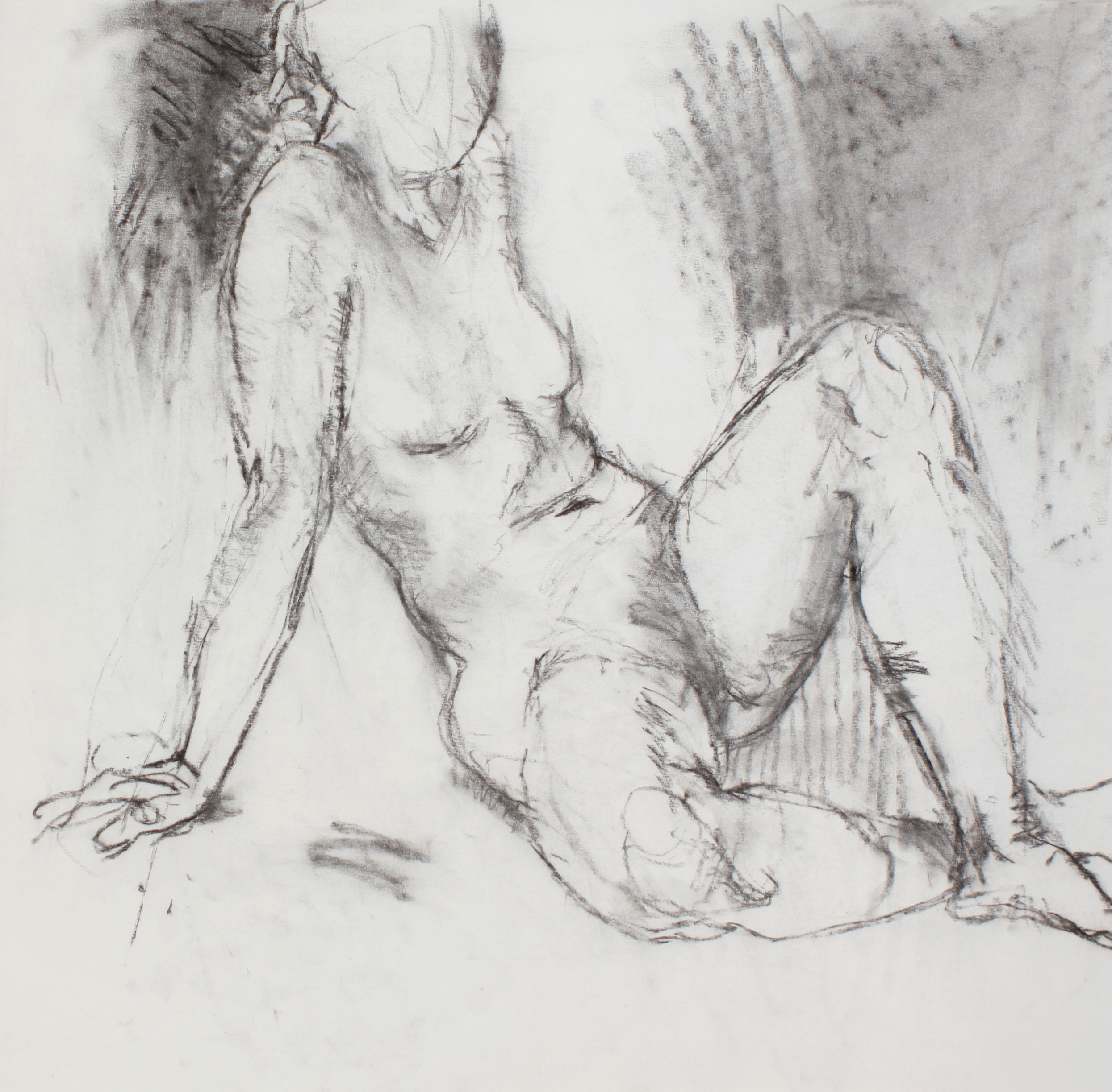 Nude Seated on the Floor with Crossed Legs