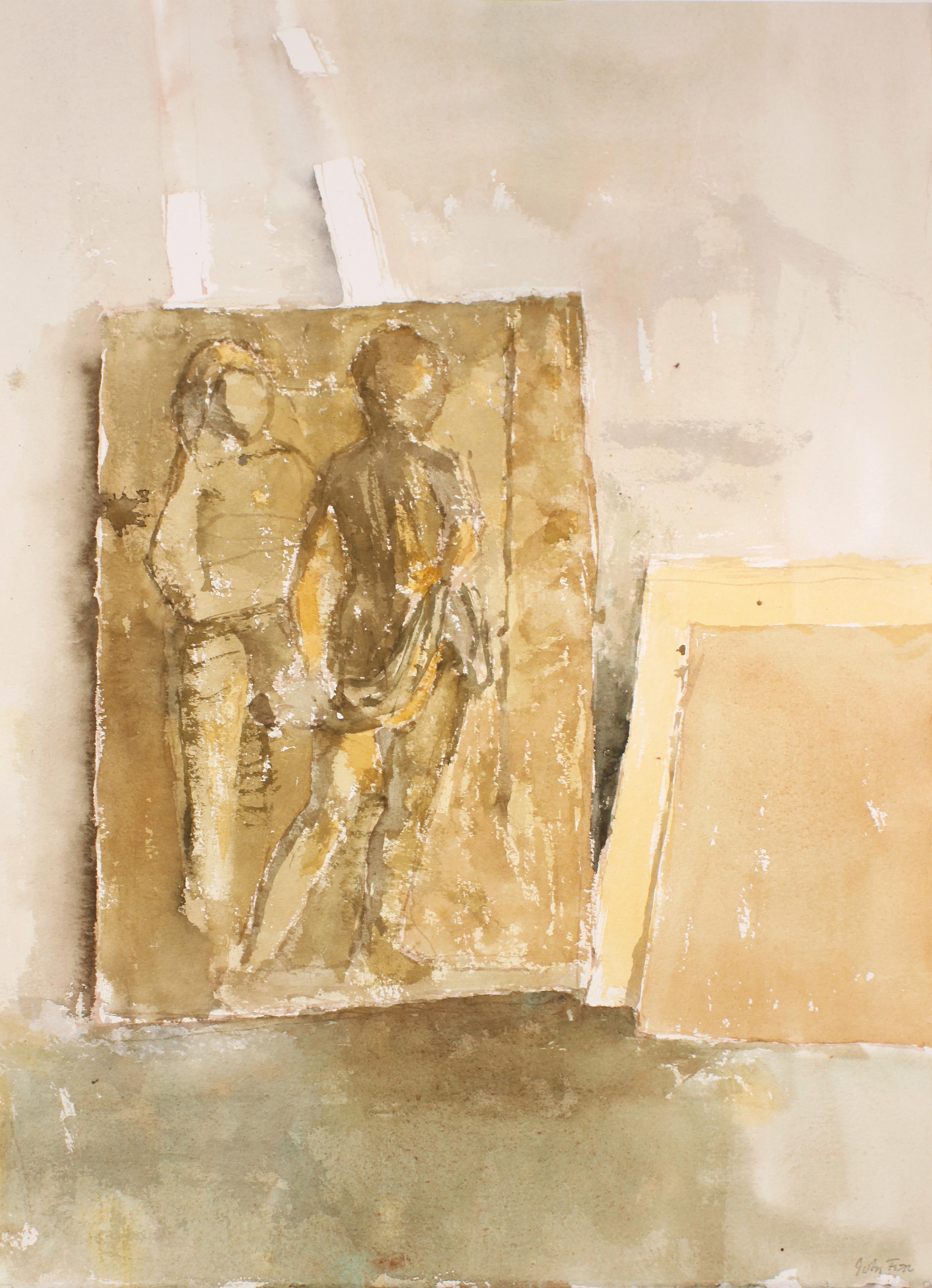 Relief Sculpture in Studio