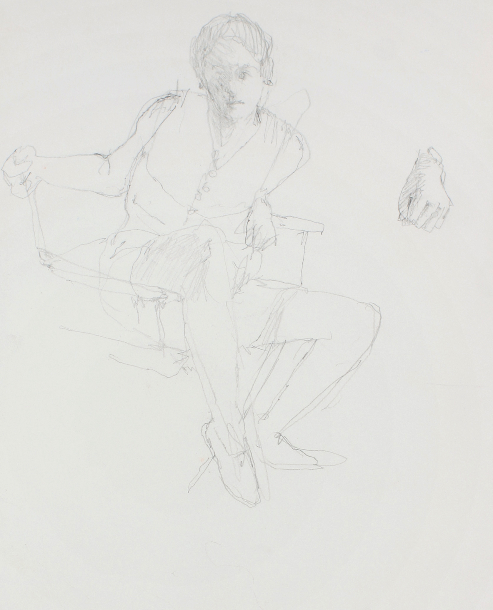 Study for Seated Girl (Sophie with Detail of Hand)
