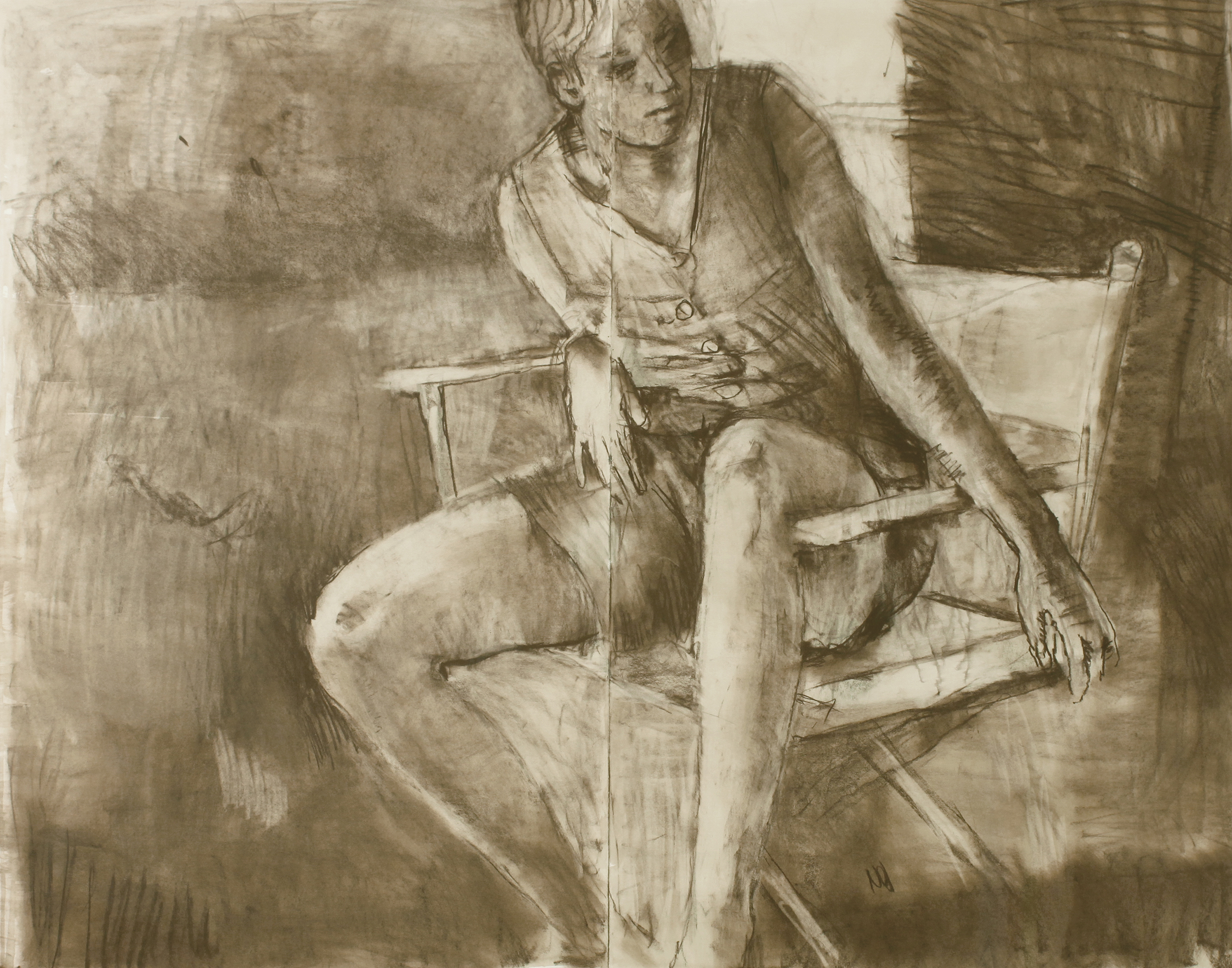 1989_Seated_Girl_Sophie_in_Studio_watercolour_and_pastel_on_paper_41x52in_WPF022.jpg