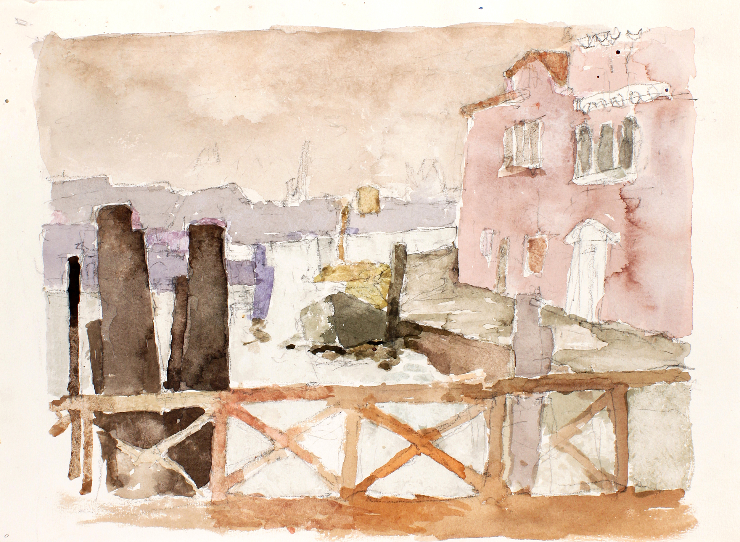 2007_Venice_Bridge_watercolour_and_pencil_on_paper_11x15in_WPF116.jpg